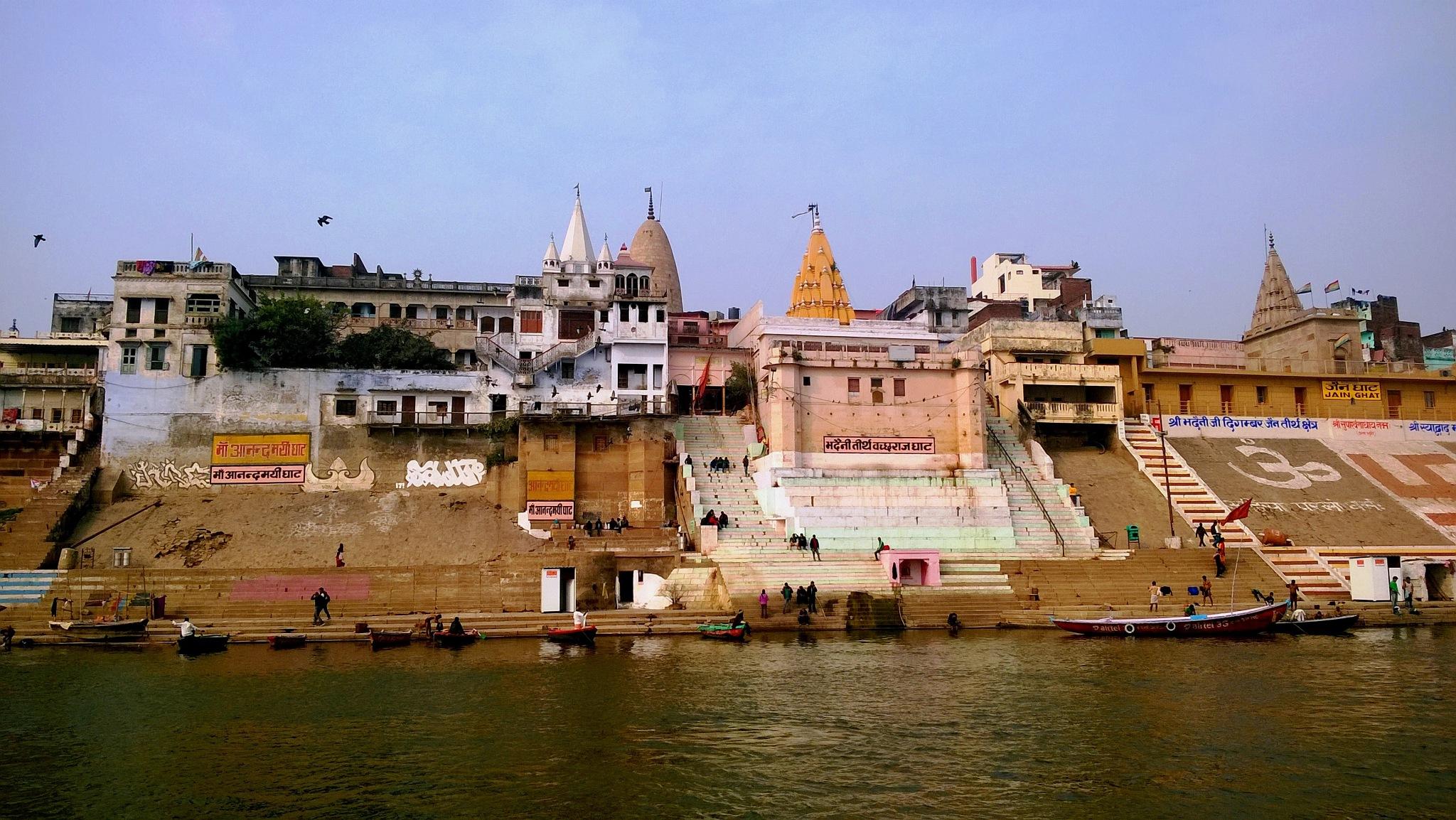 Beauty of Banaras at Ganges 6 by Suresh Tewari