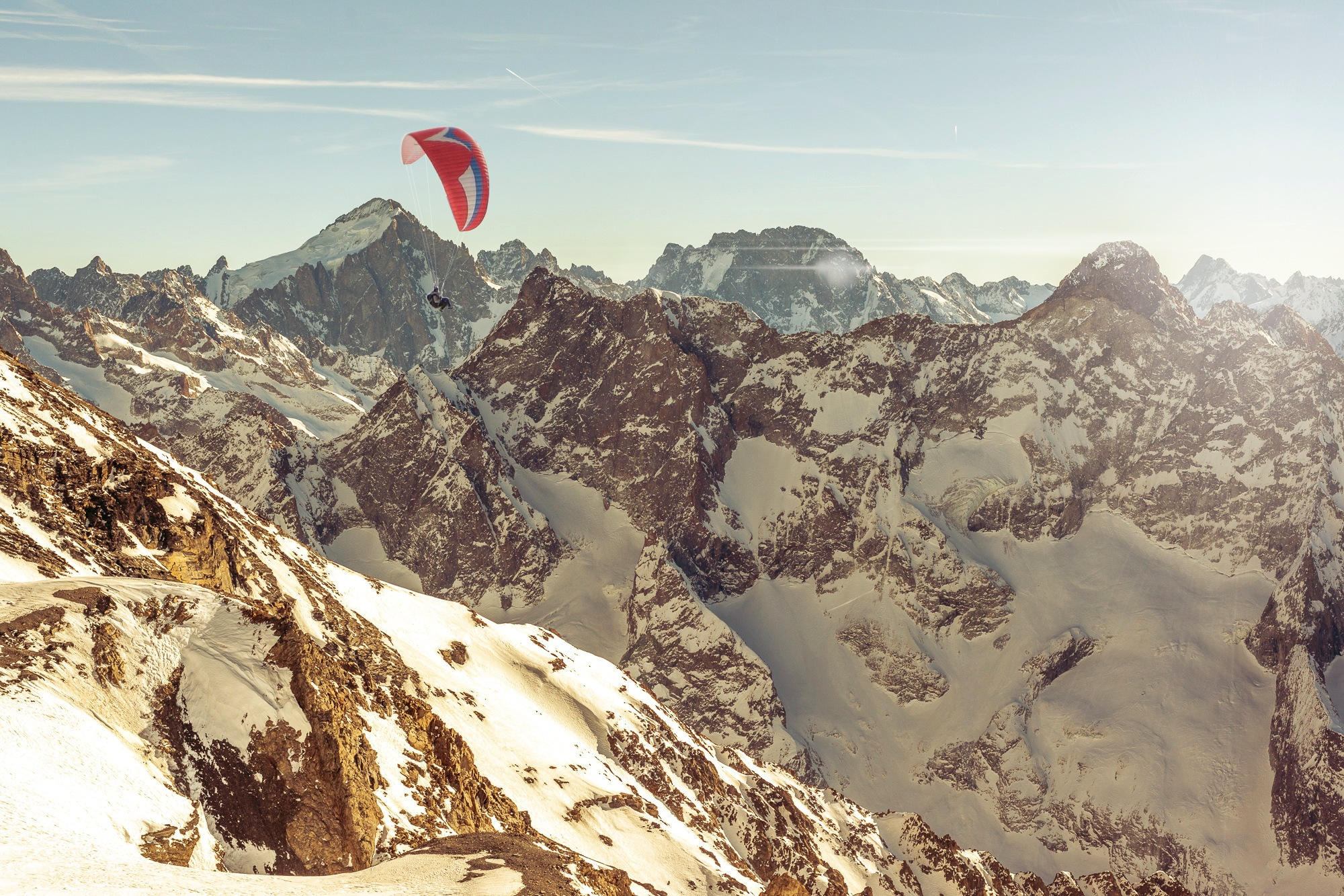 Paragliding the Alps peaks by dnyphoto