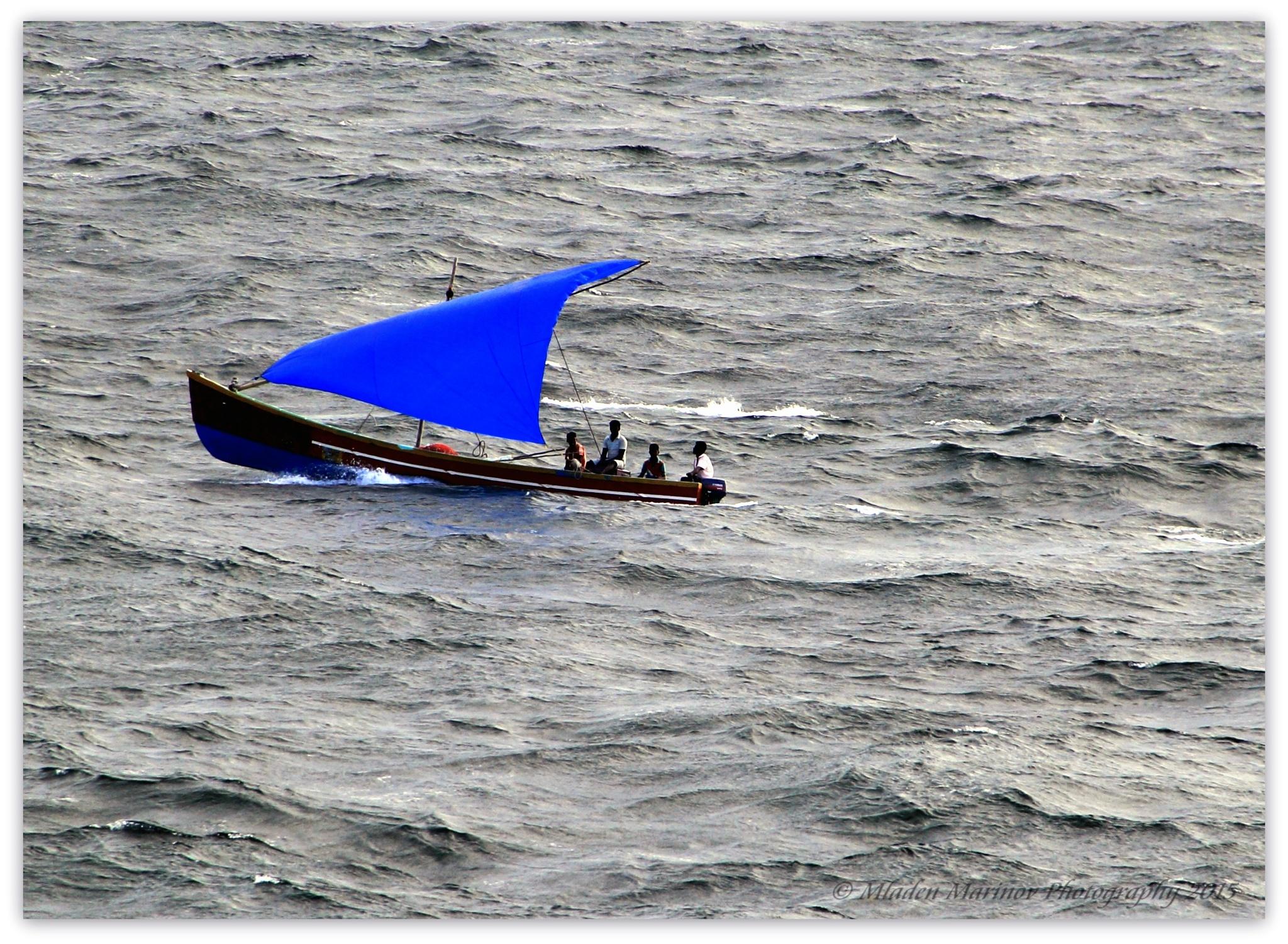 Blue sail by Mladen Marinov (MM)