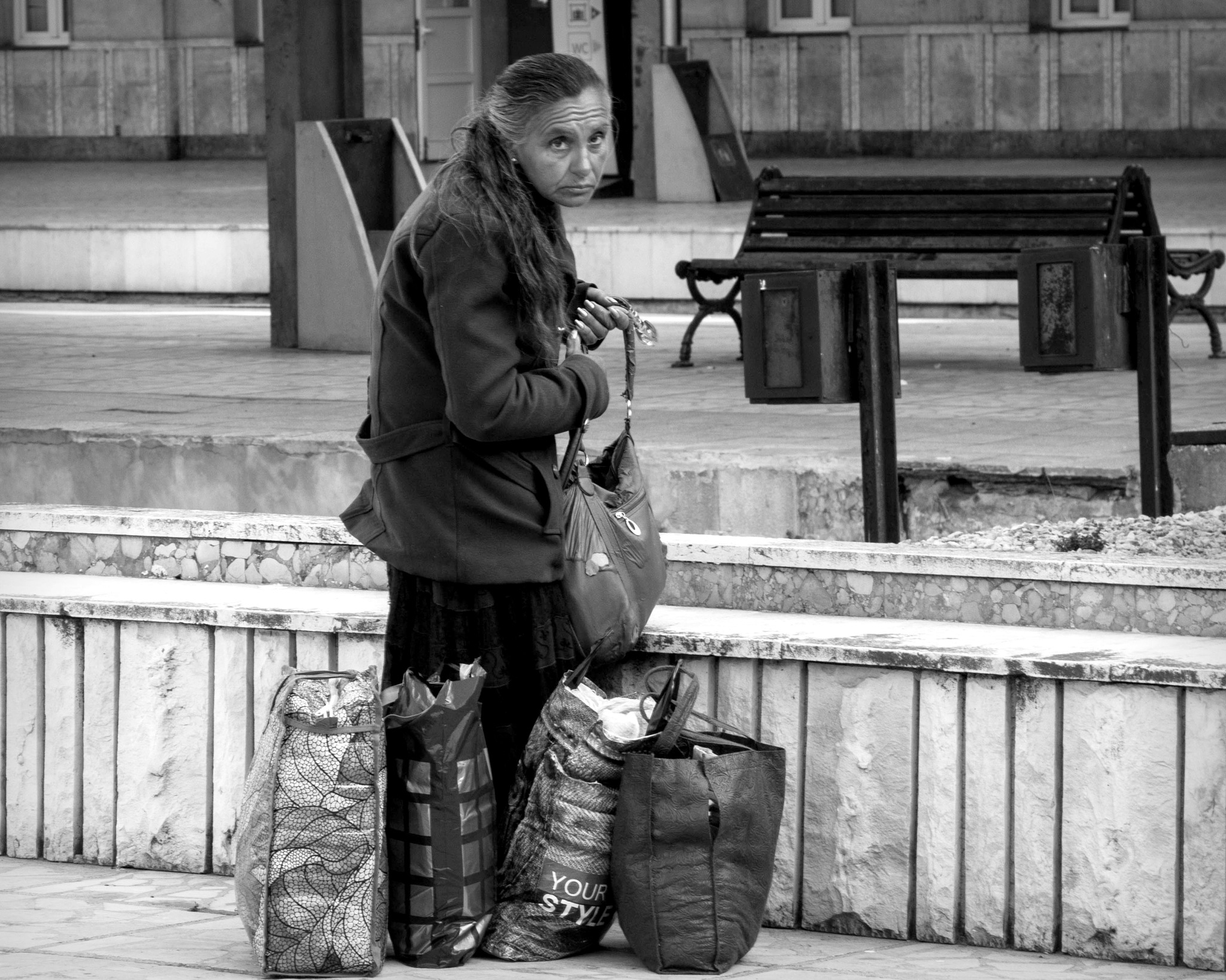 """""""The Woman with bags"""" by Mladen Marinov (MM)"""