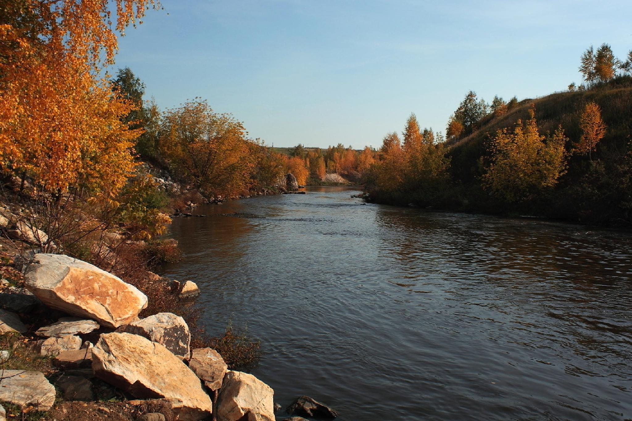 autumn river by Alexey Komarov
