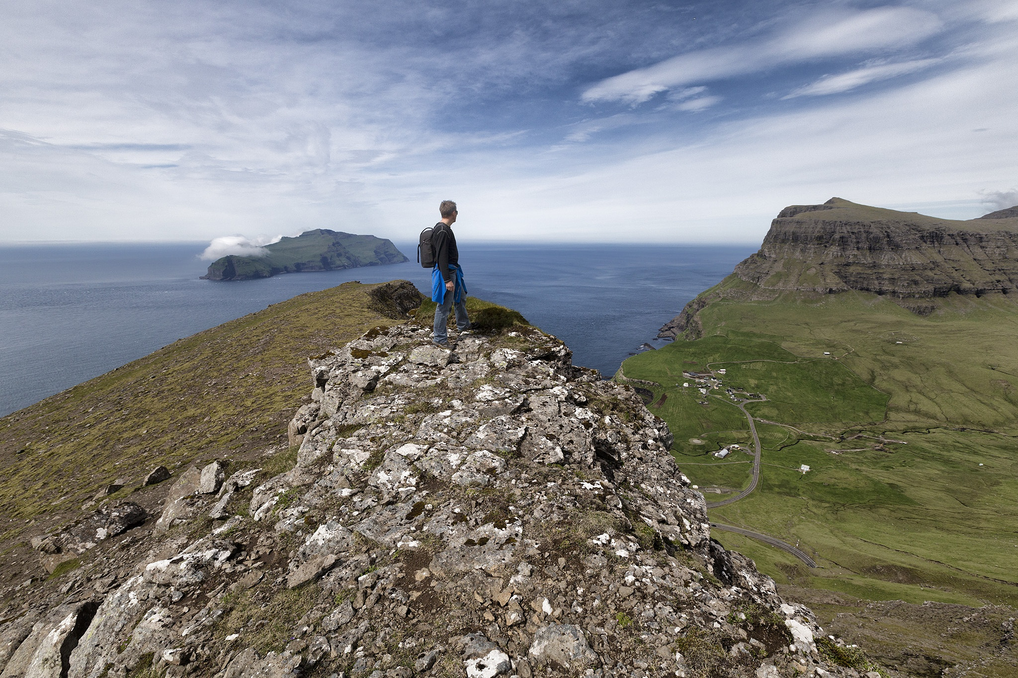 Self portrait by Faroe Islands Hiking