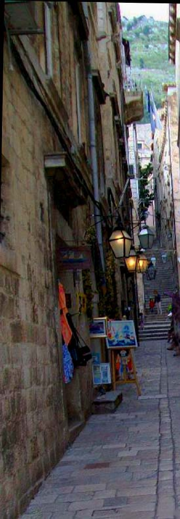 Dubrovnik with specific narrow street , Croatia by mirka_p