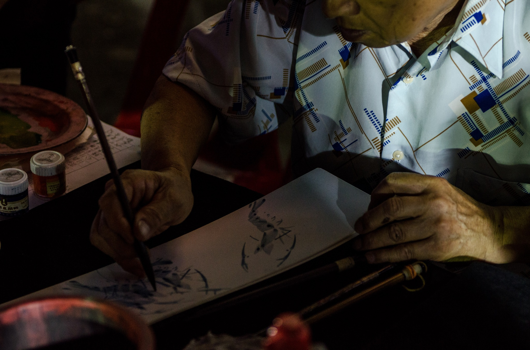 Calligraphy In The Dark  by Rie