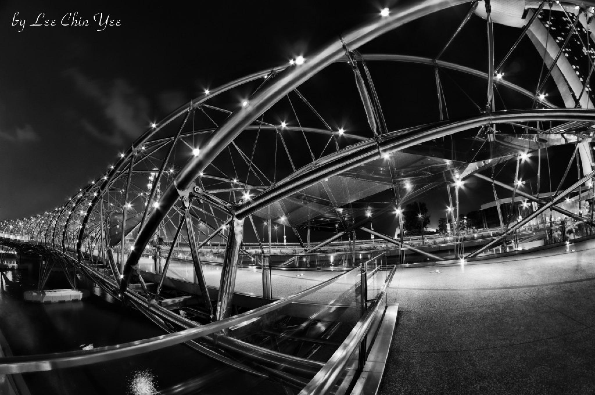 Photo in Black and White #b&w #night #cityscape #architecture