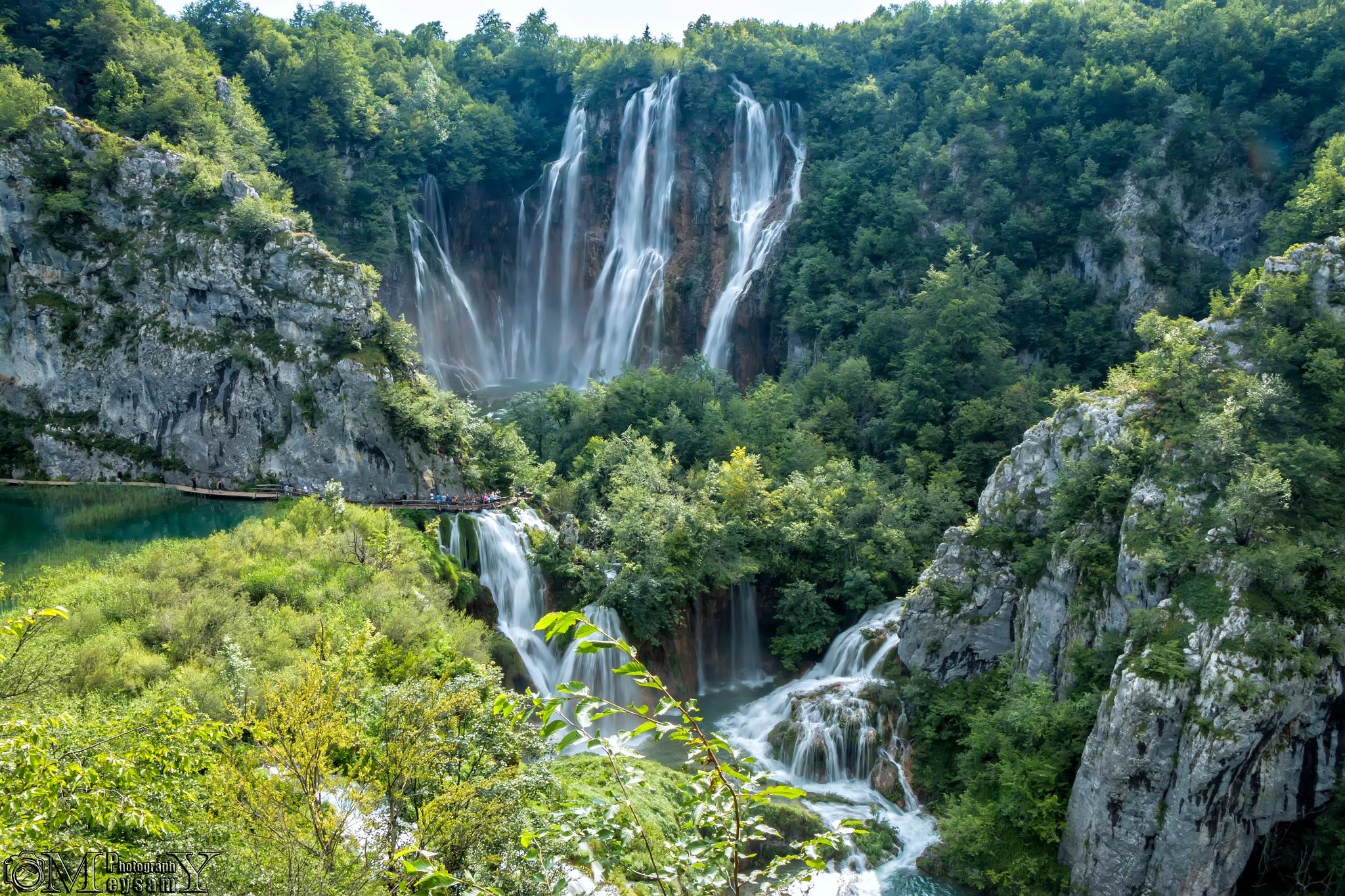 Plitvice lakes and waterfalls by Meysam Mashayekh