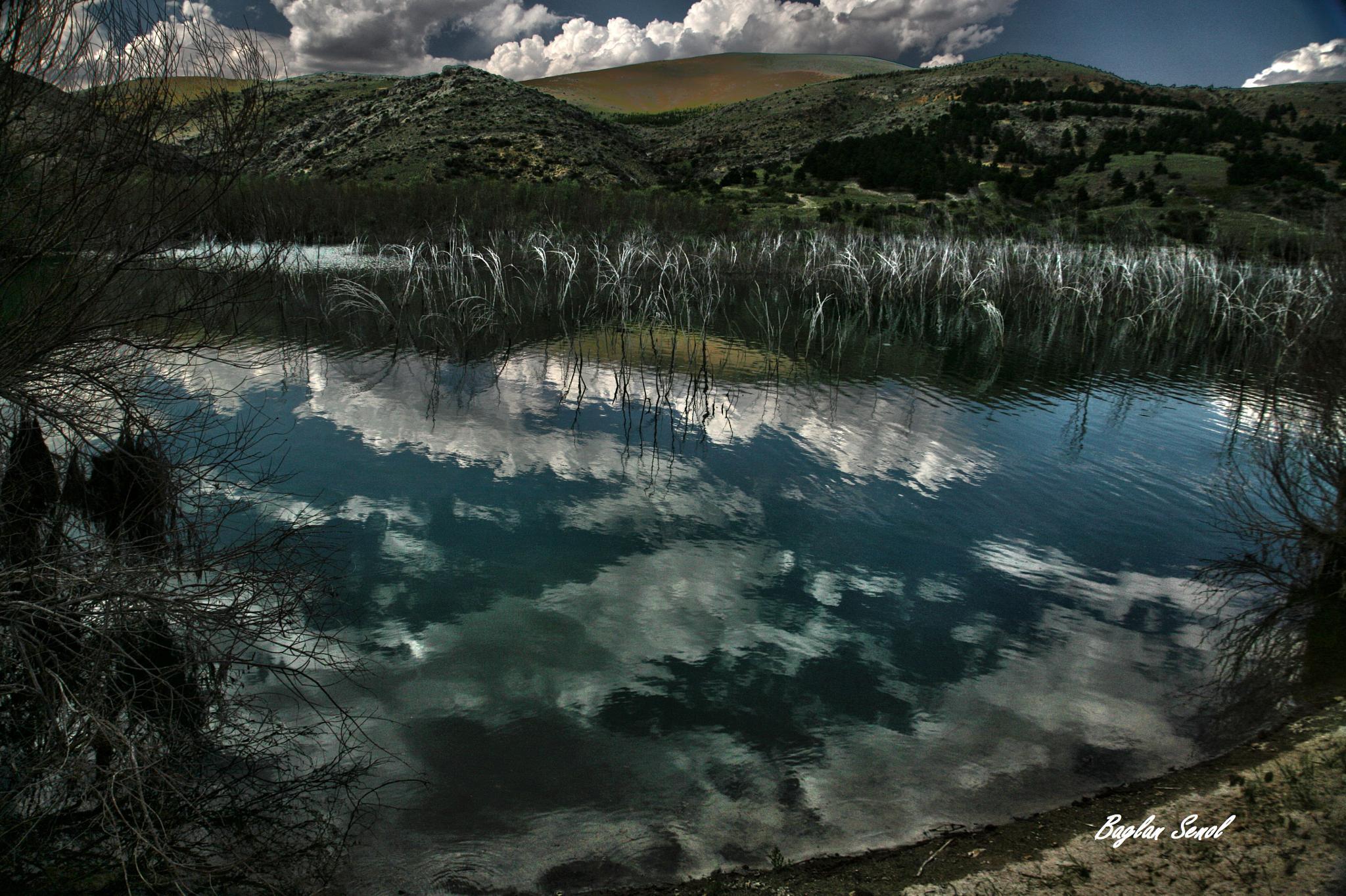 Photo in Landscape #reflection #clouds #lanscape #seascape