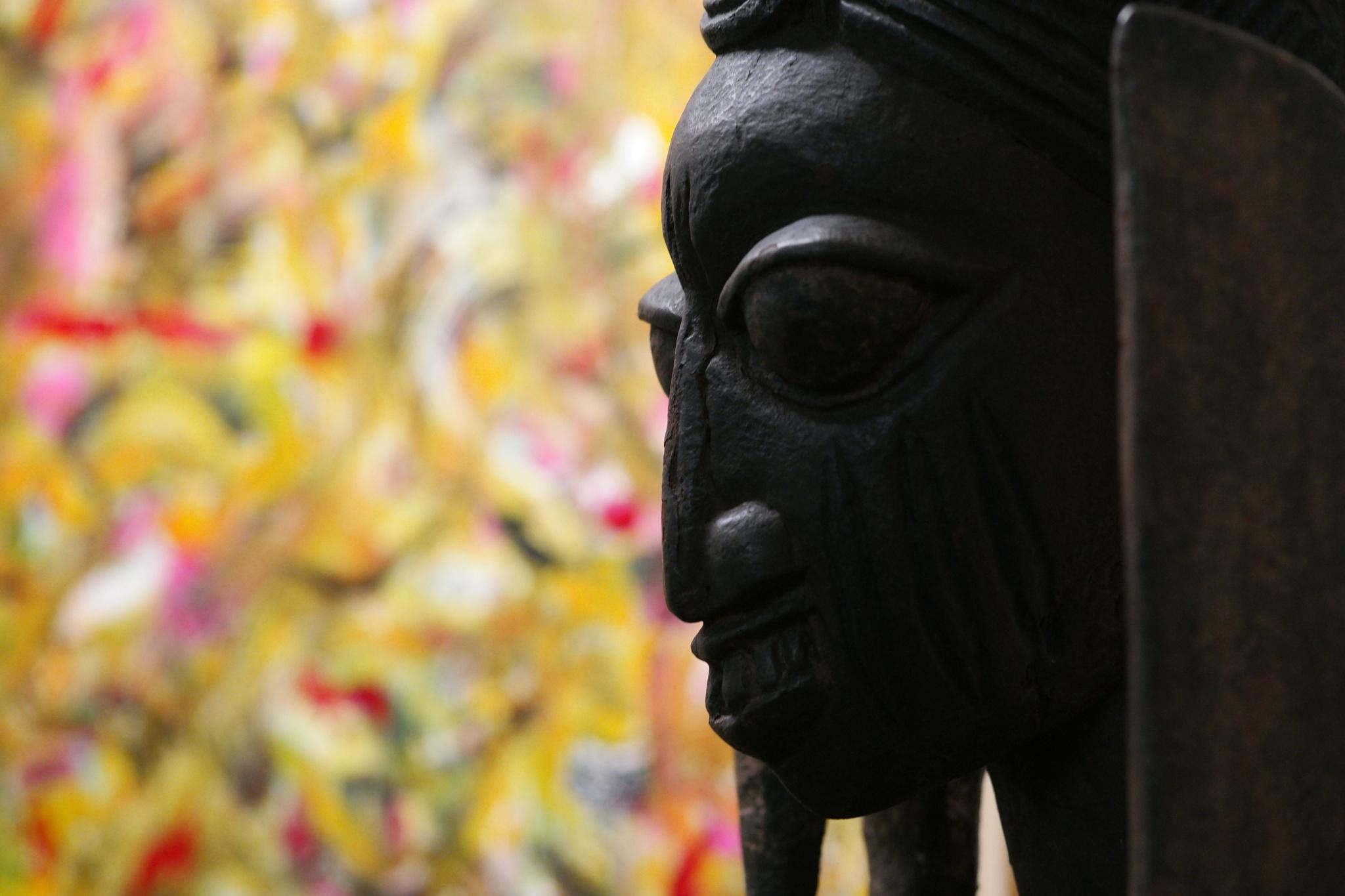 African Machete Man by Tiki Tim