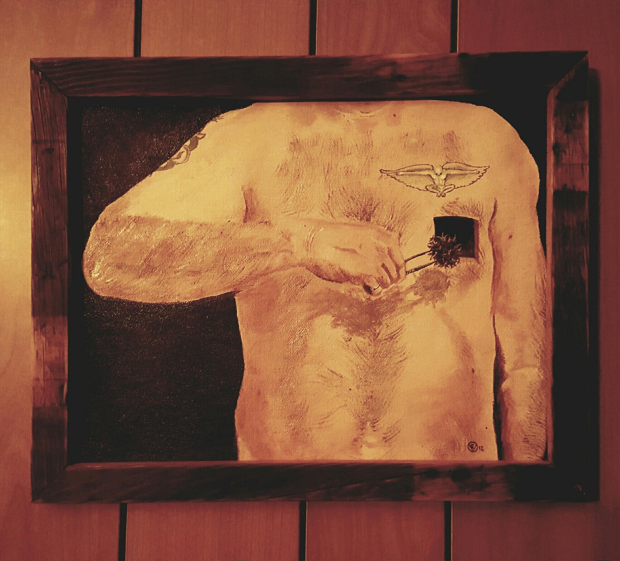 """self portrail: purge"". by Steve Umbaugh"