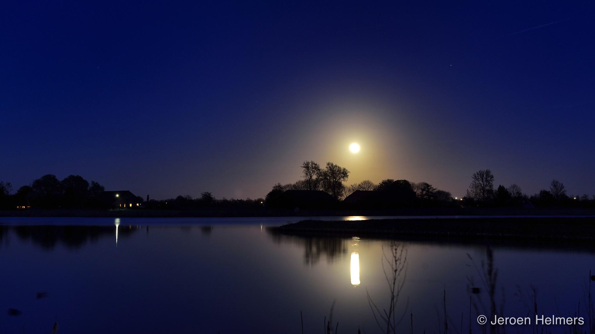 Moonlight above Blauwestad by Jeroen Helmers