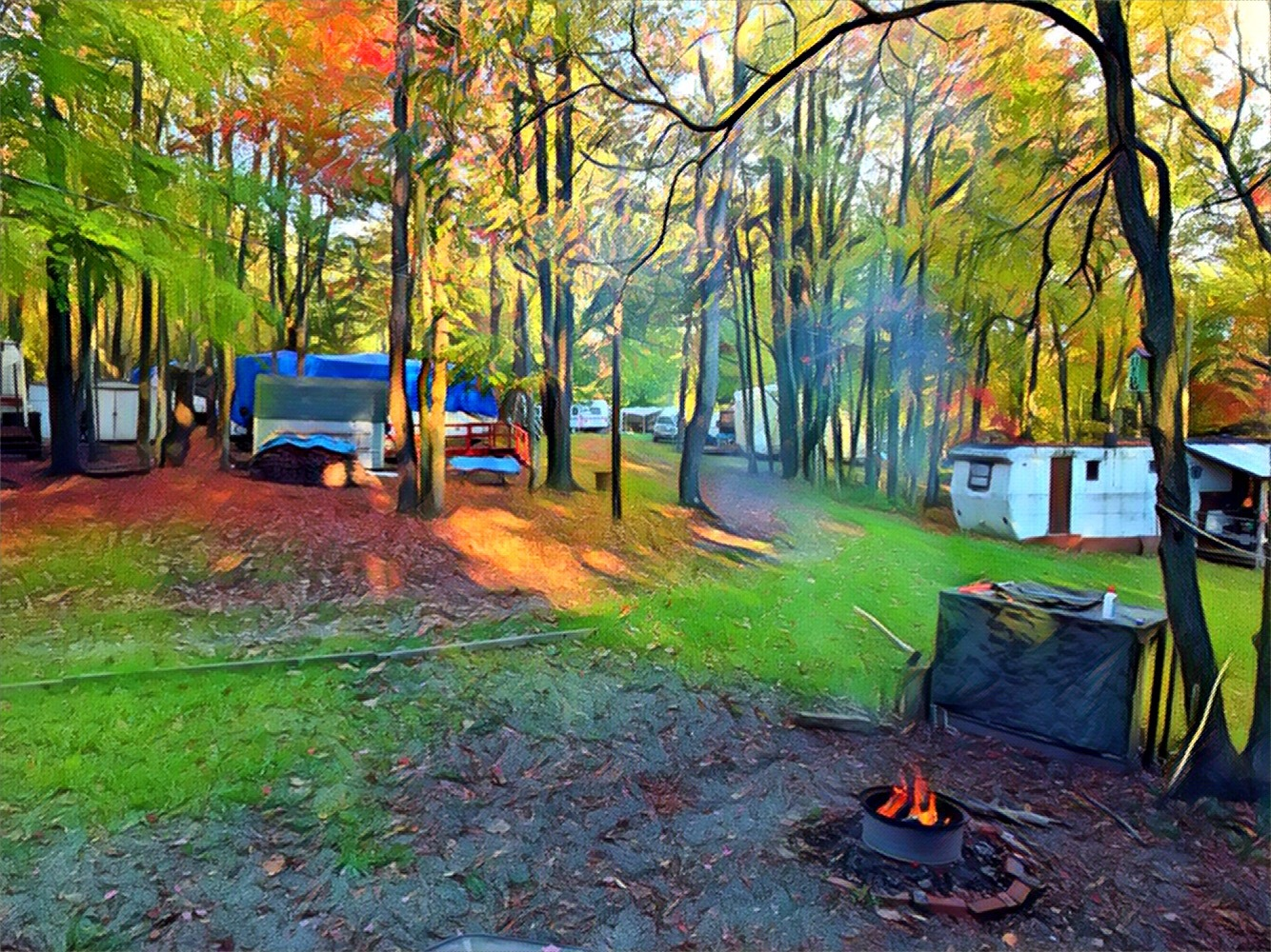 Fall camping.. by Roland Lavigne