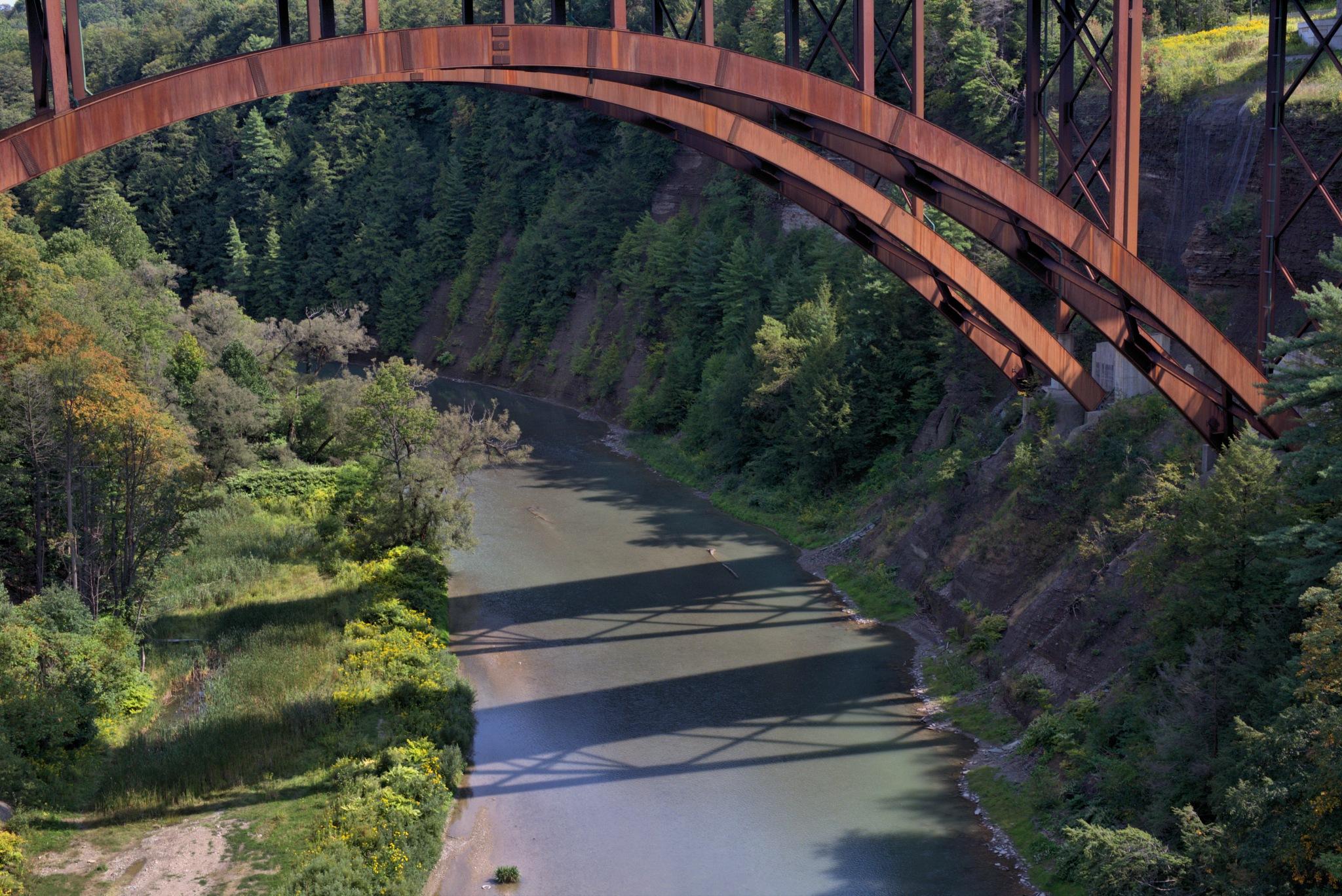 Old Steel Bridge.. by Roland Lavigne