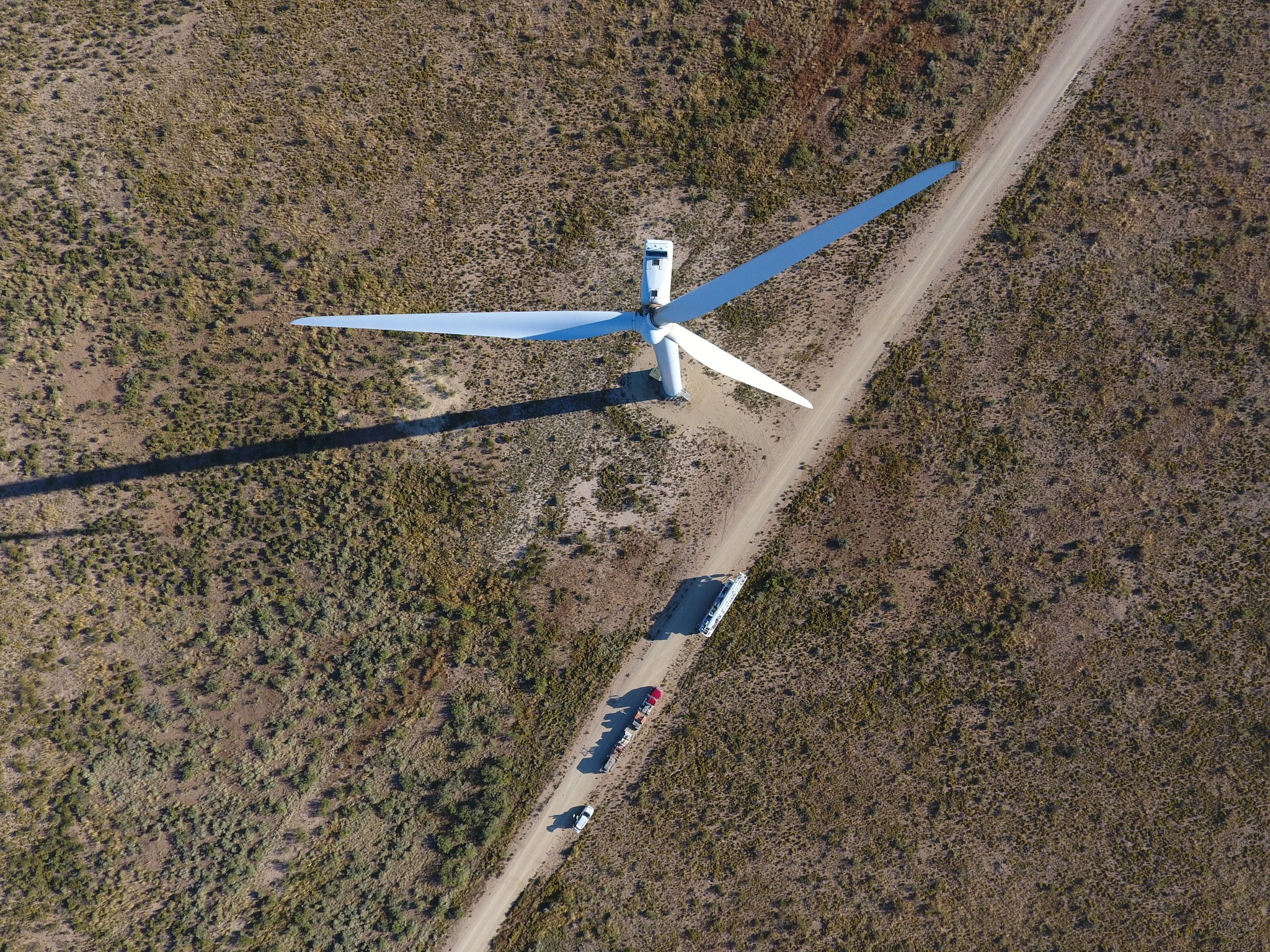 Looking Down at a Wind Turbine by Chris Martin