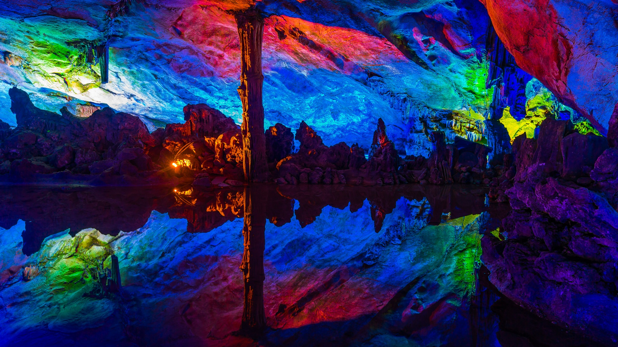 Reed Flute Cave by CamHadlowPhotography