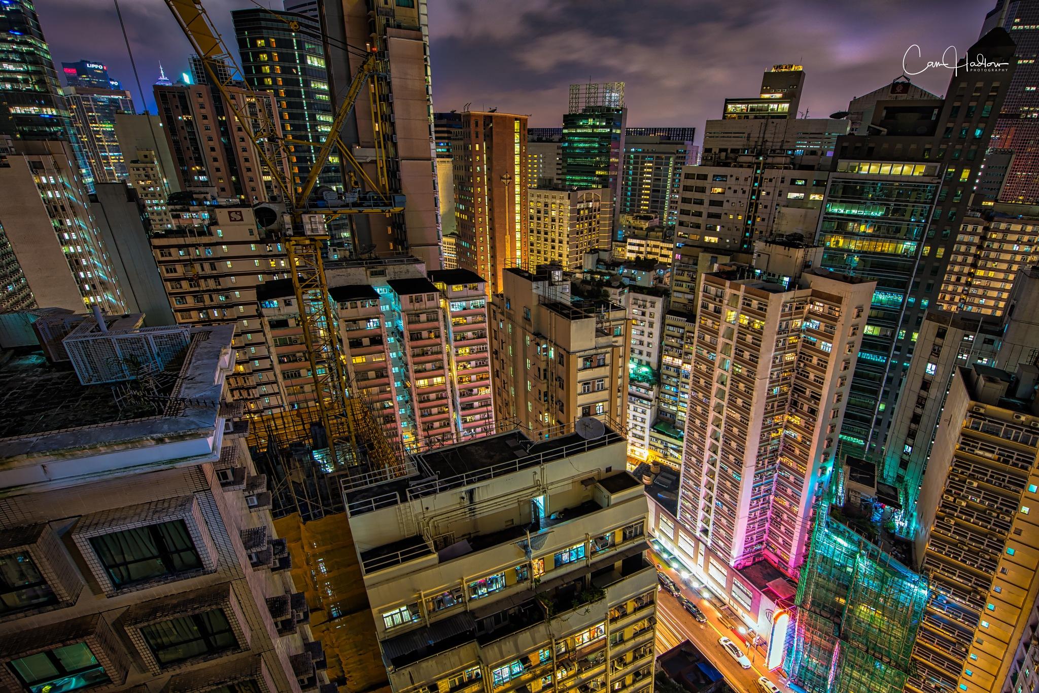High above Wanchai by CamHadlowPhotography