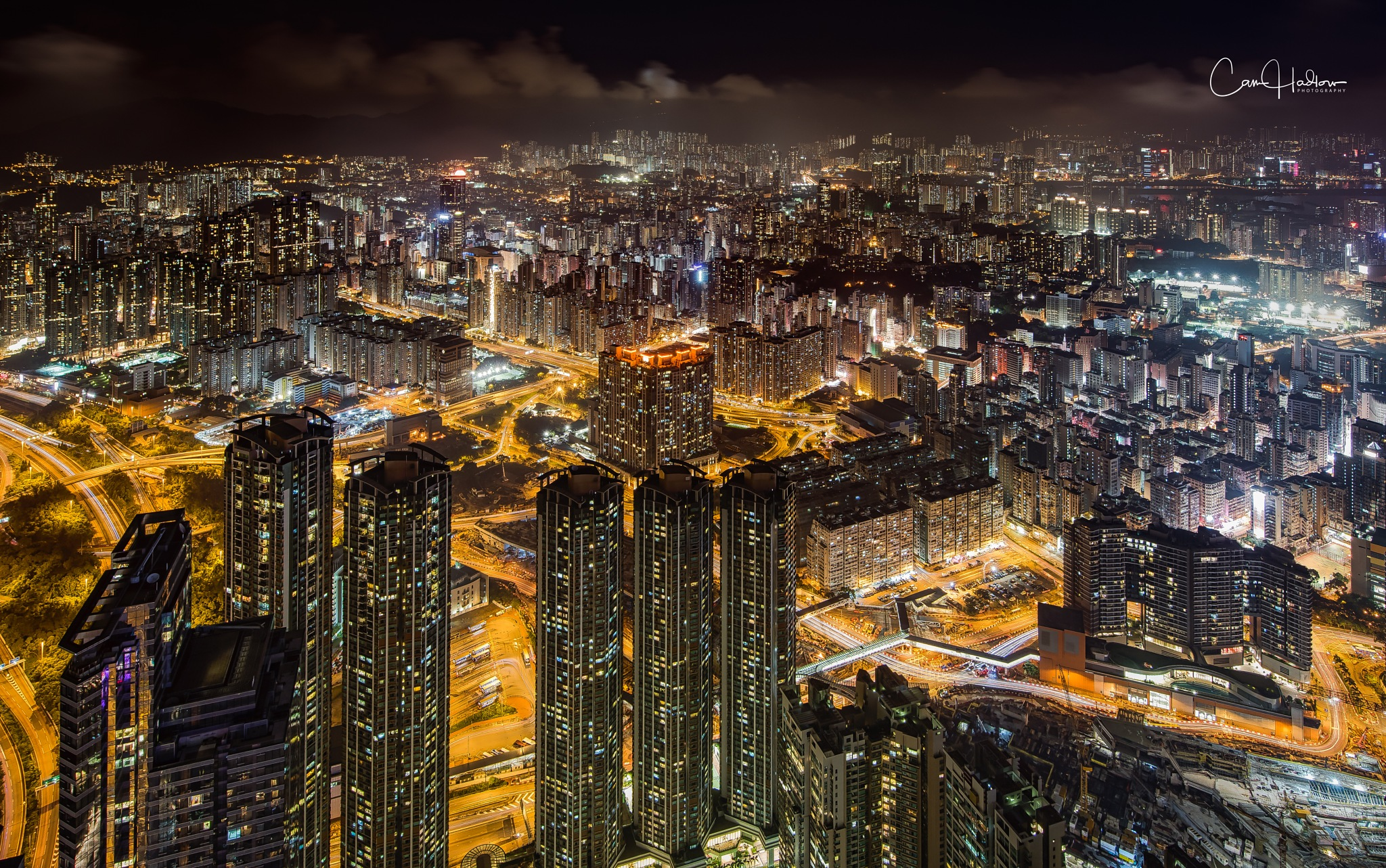 Kowloon by night by CamHadlowPhotography
