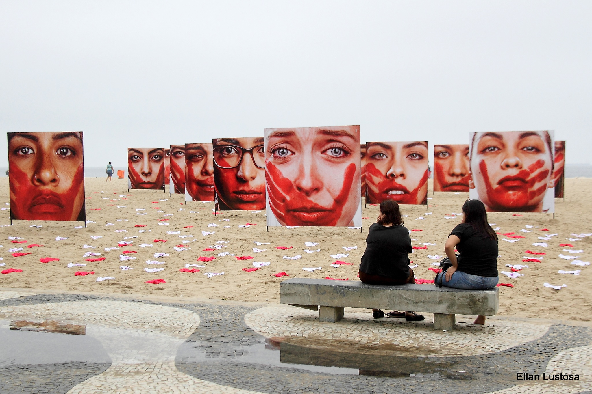 PROTEST AGAINST RAPES IN COPACABANA by Ellan Lustosa Photojournalist