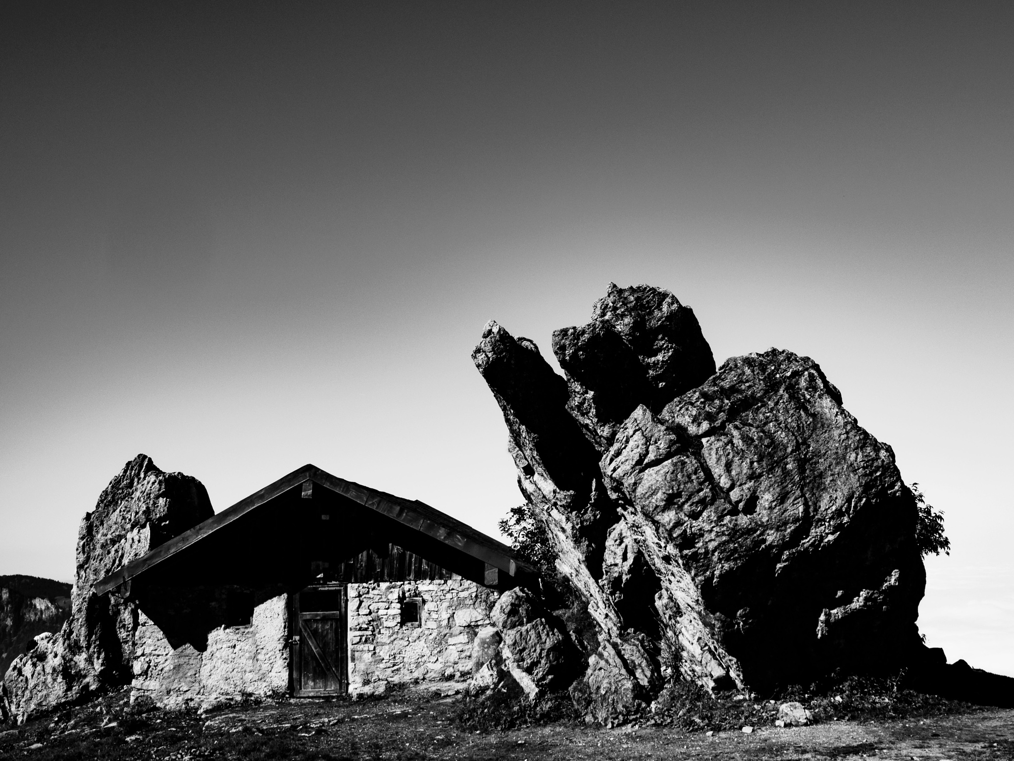 old house on the alp by albertstoehr