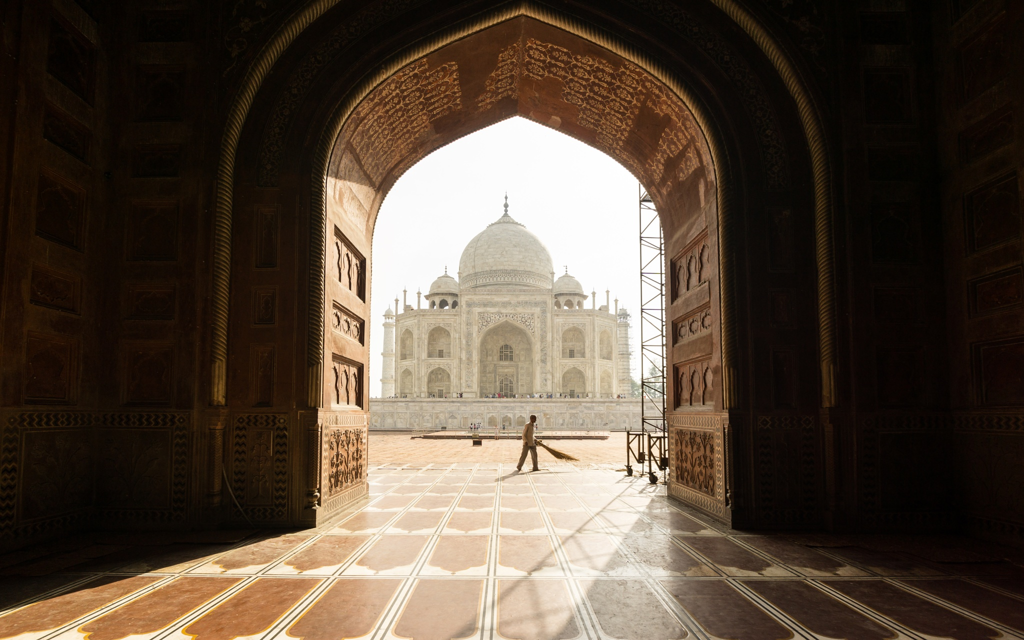 Getting the Taj ready by Abhinash Jena