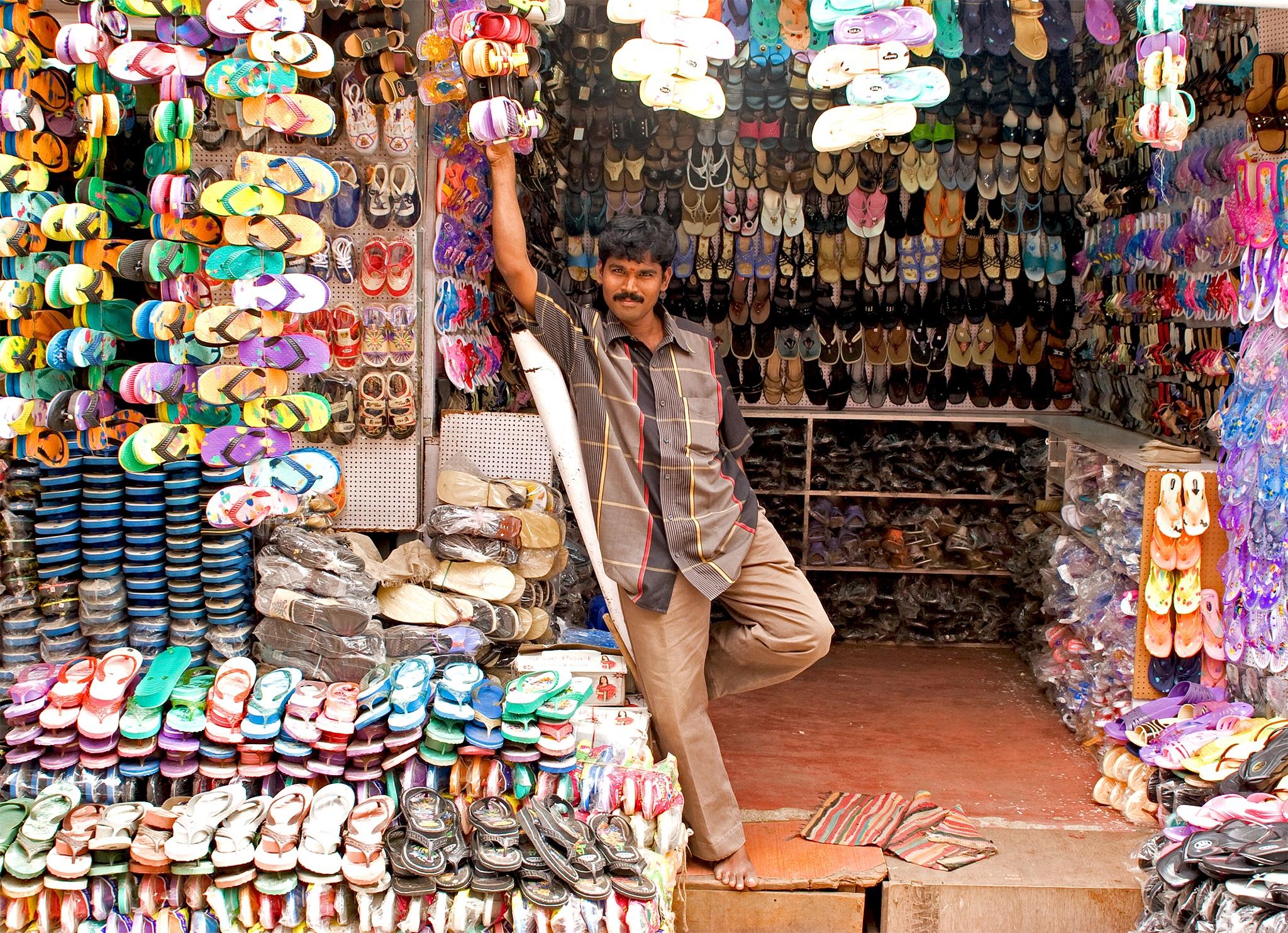 Shoe seller  by bindue