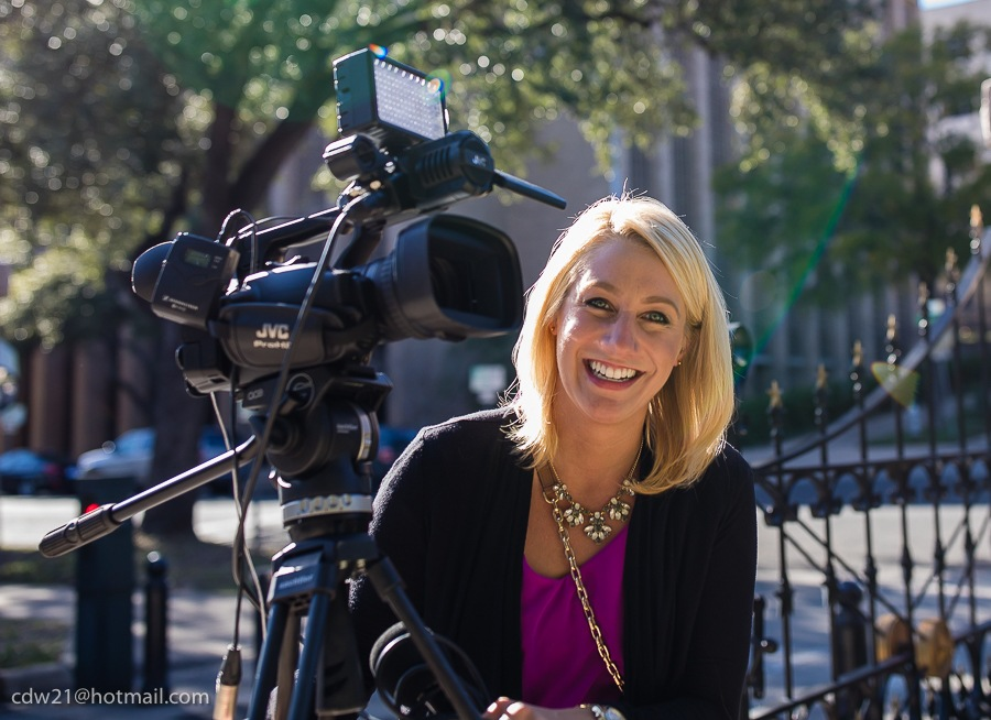 A local Austin TV News Reporter at the Capitol by Christopher Winston