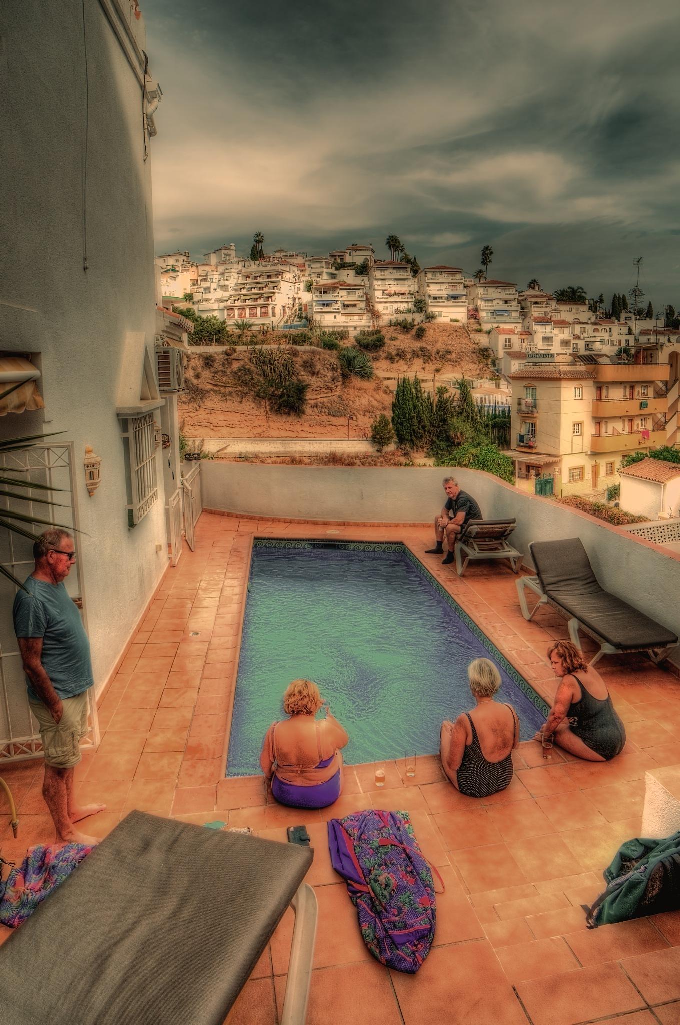 Sitting By The Pool by Bo Kärker