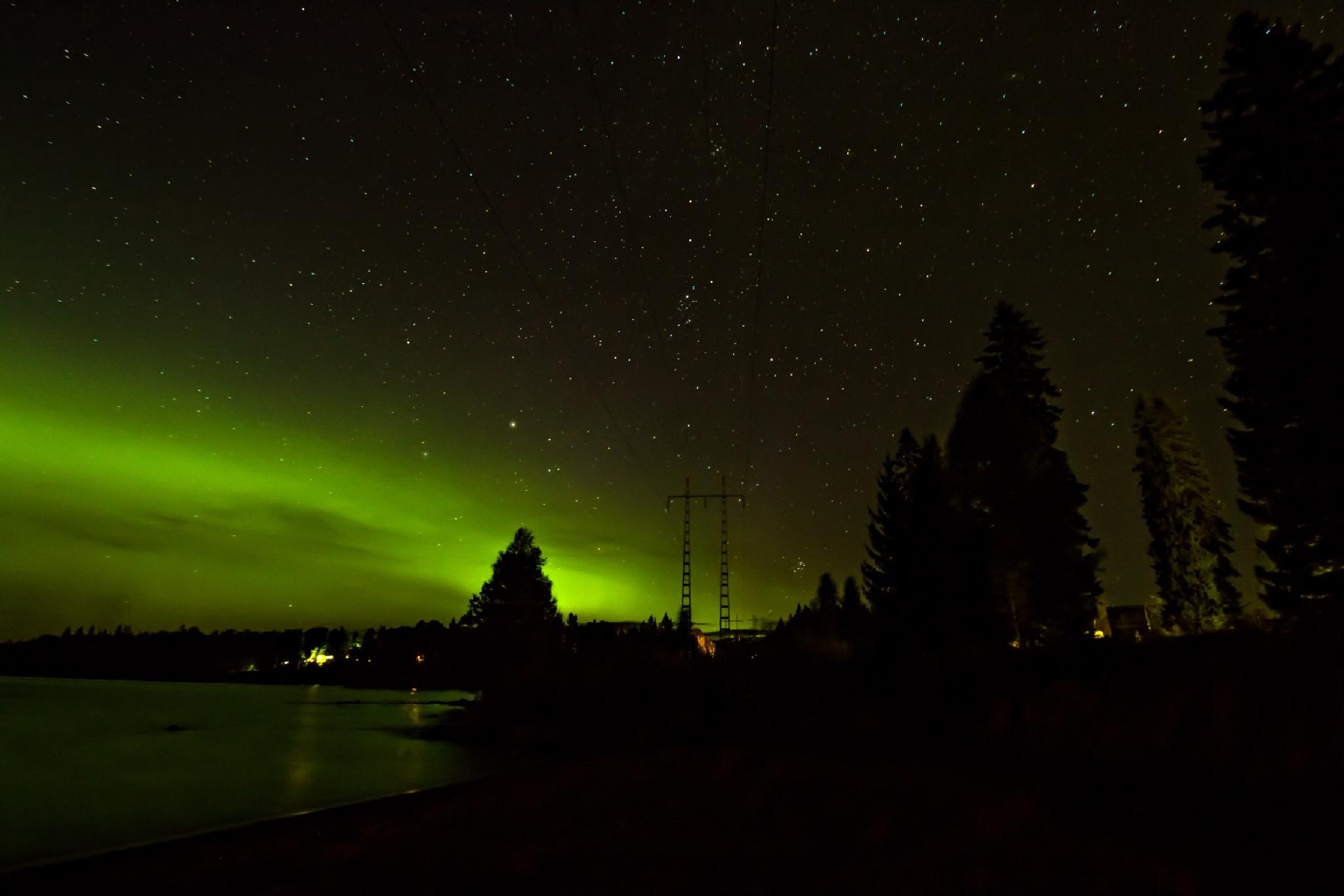 Polarlicht, Norrsken / Sweden by Mrgit Kluthke