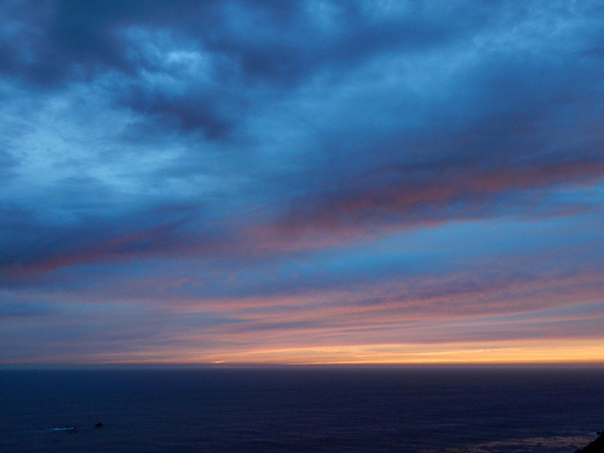 Sunset California highway one. by Freddy Martinez