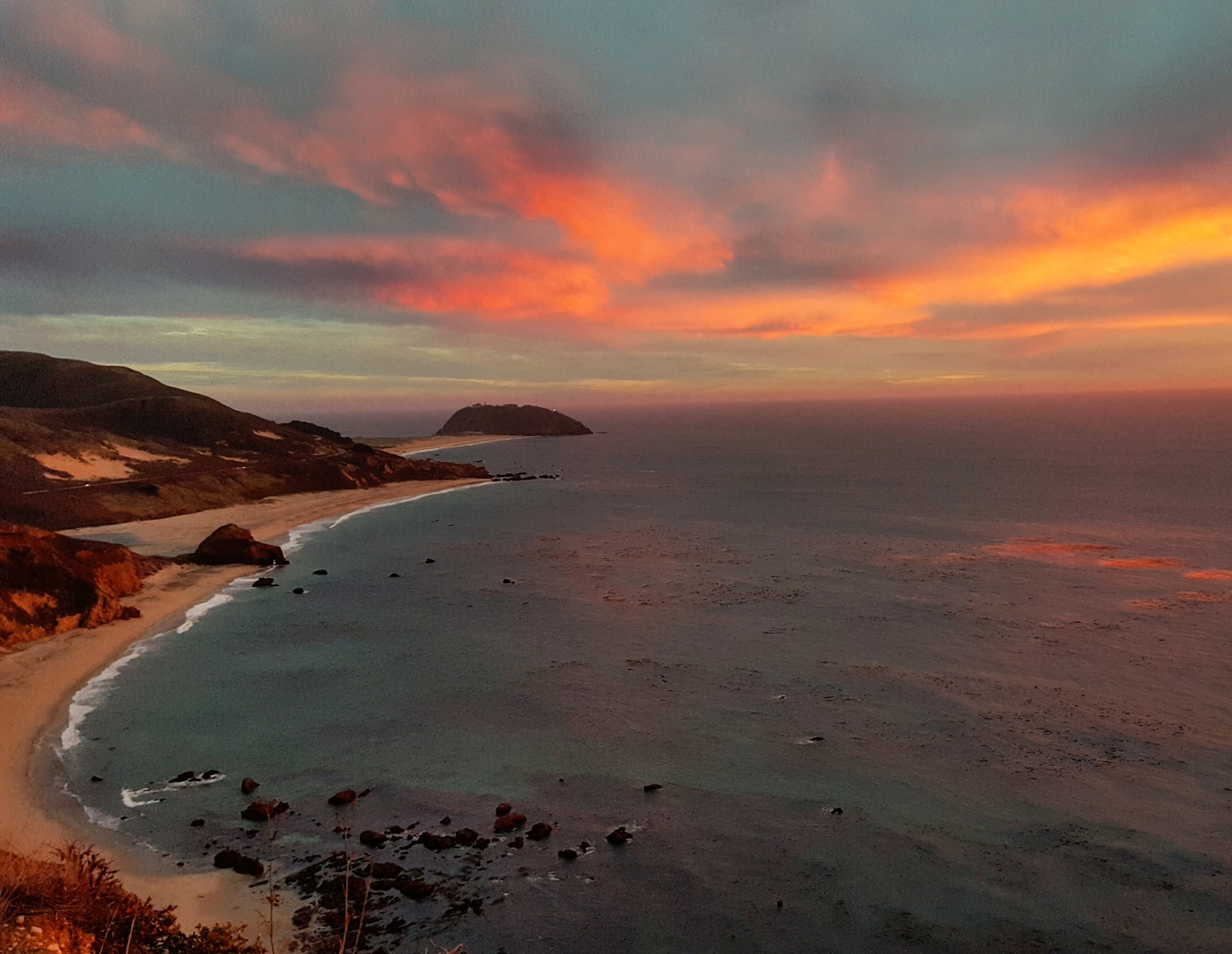 Highway one outside of Big Sur California  by Freddy Martinez