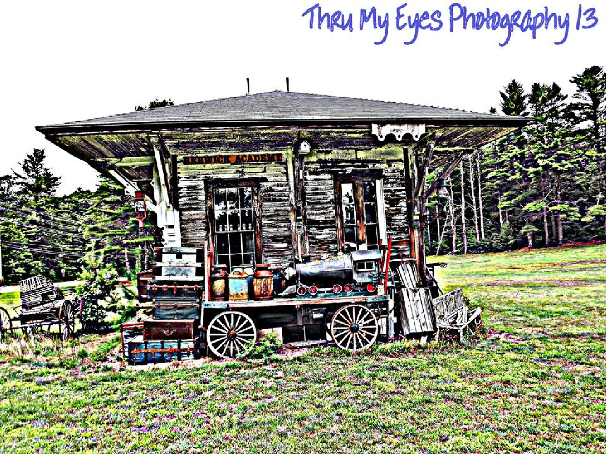 Old Vintage Train Station by captain
