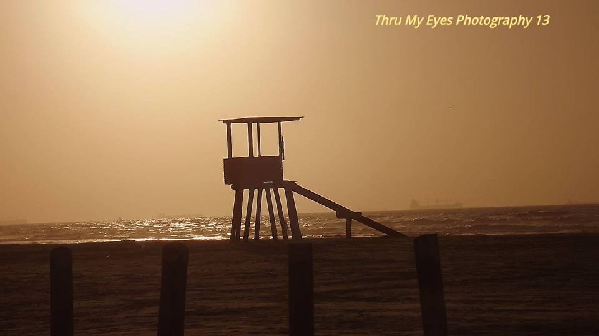 Life Guard Stand at Sunrise by captain