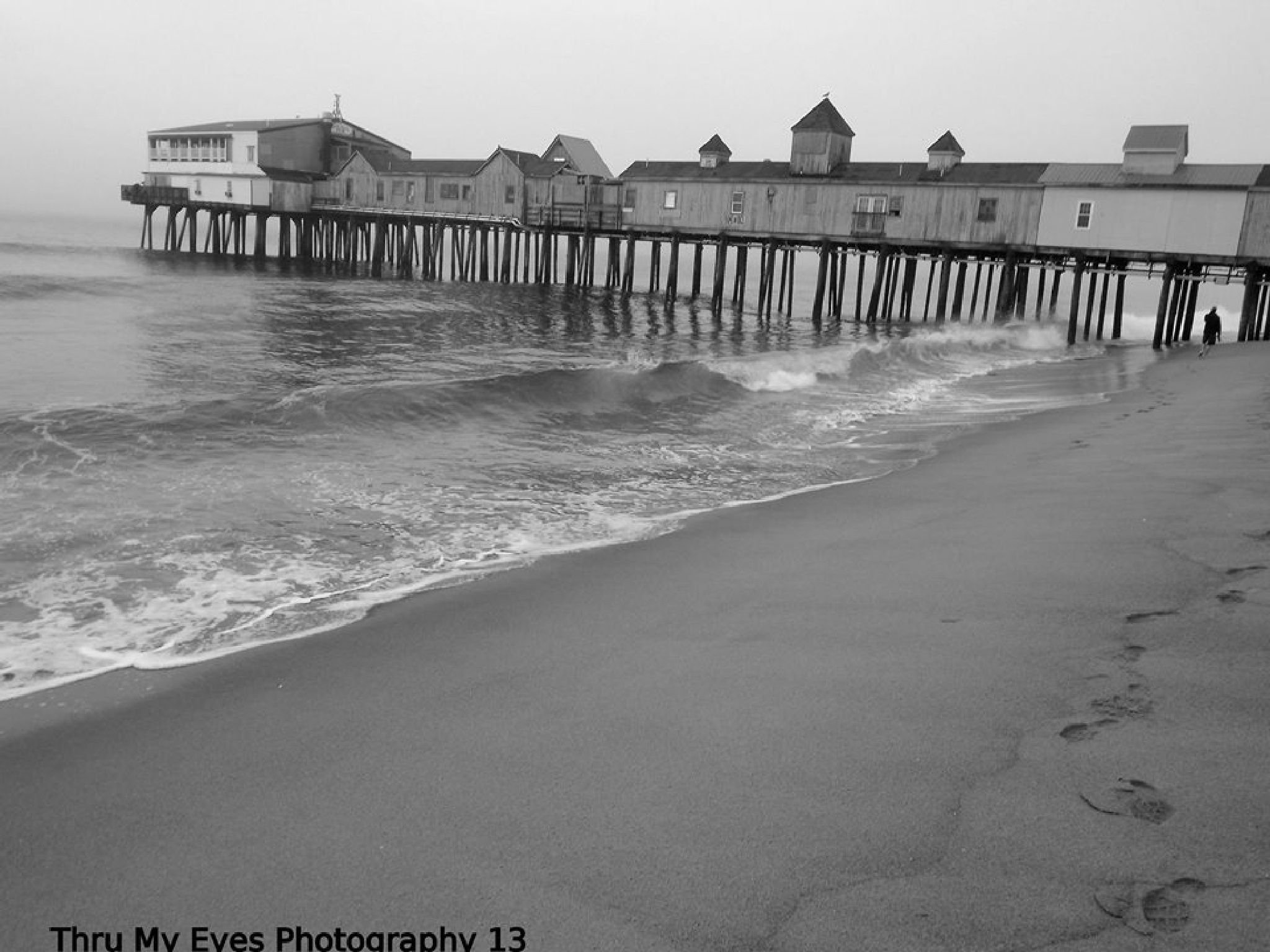The Pier and Surf by captain