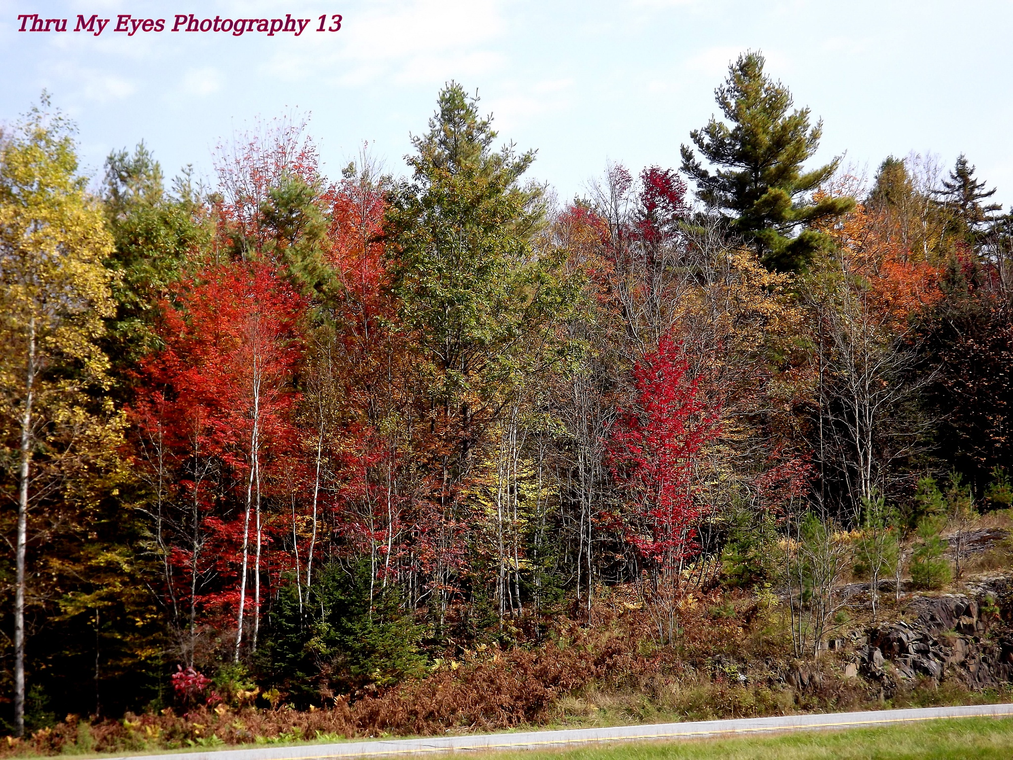 On The Side Of The Interstate Derby, Vermont by captain