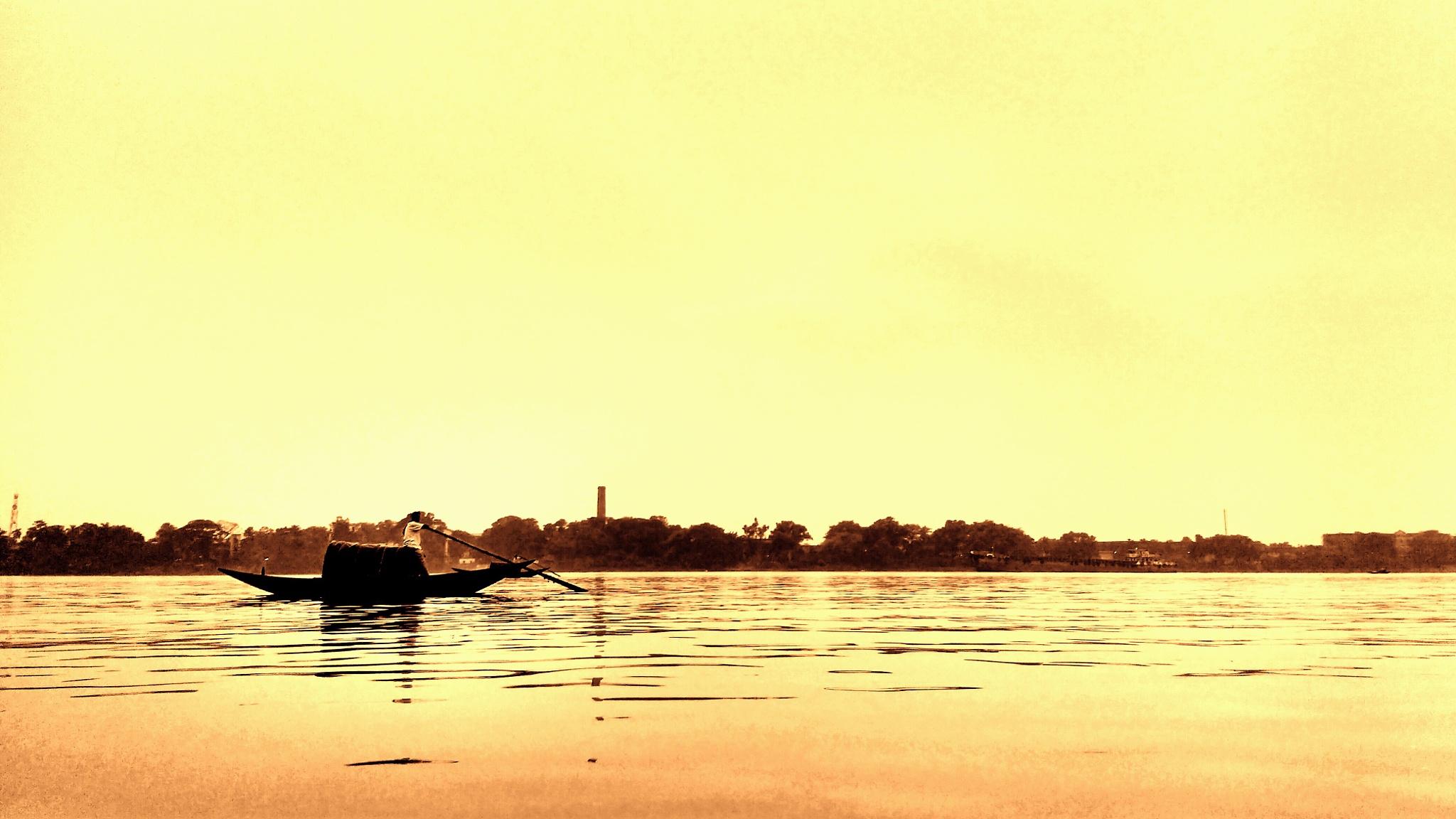 rowing the way. by SabujGhosh