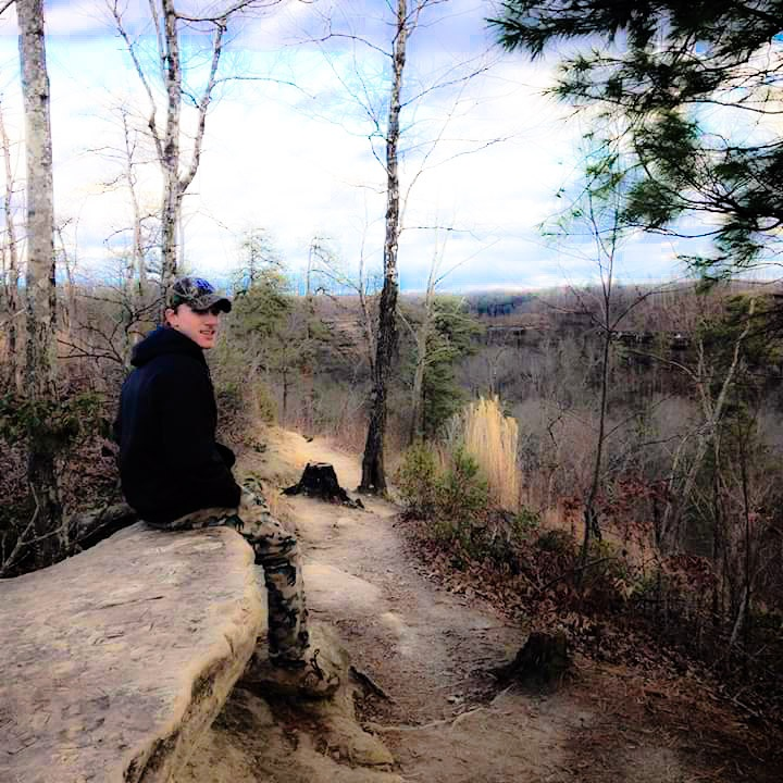 On top of the mountains in Clifty Wilderness by Tina Hayes