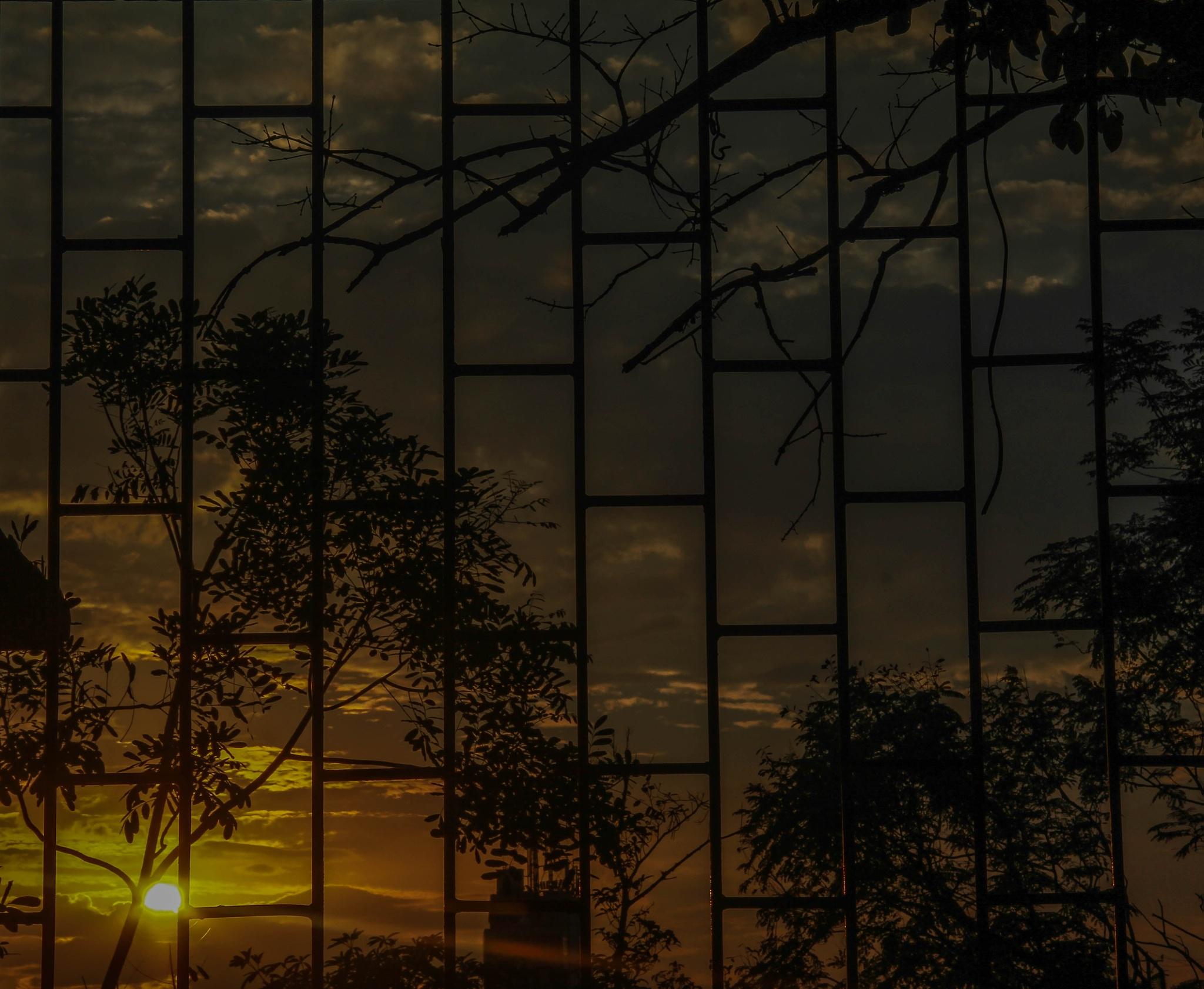 Sunset through the door by Ngo Trung Kien