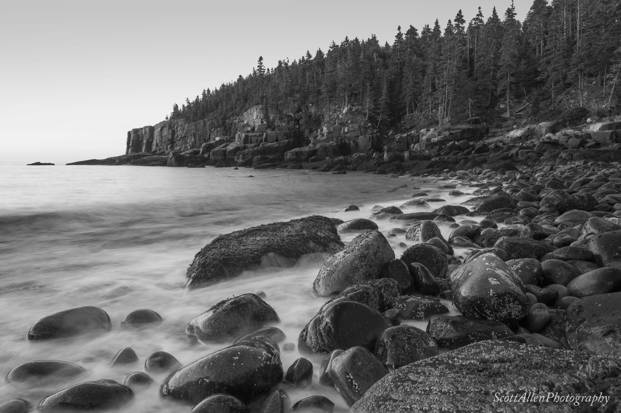 Early Morning At Boulder Beach, Acadia National Park by Scott Allen