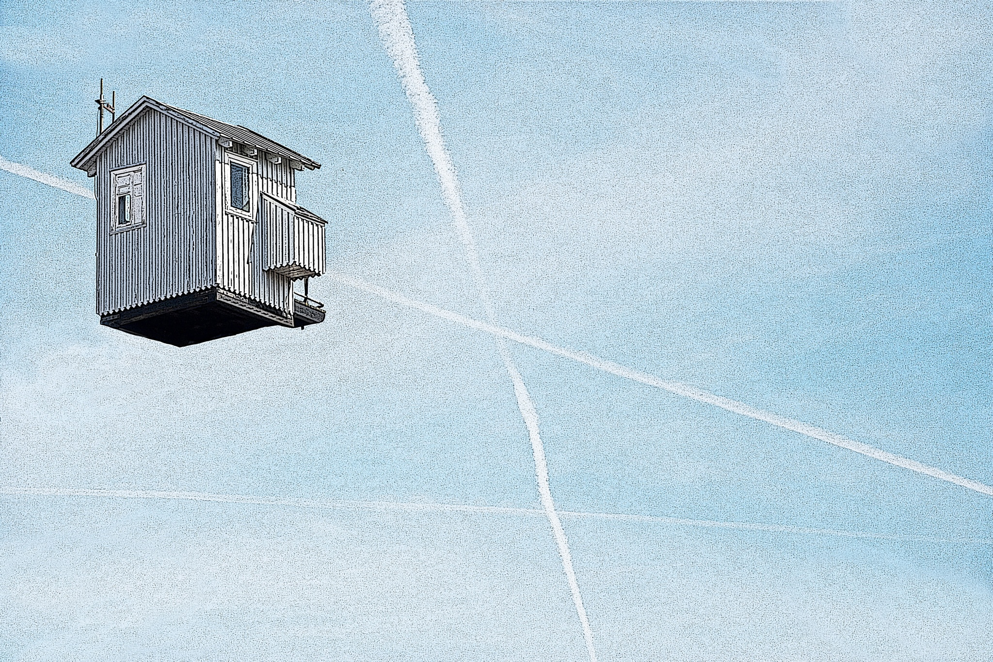 house in the air by Claus Christensen