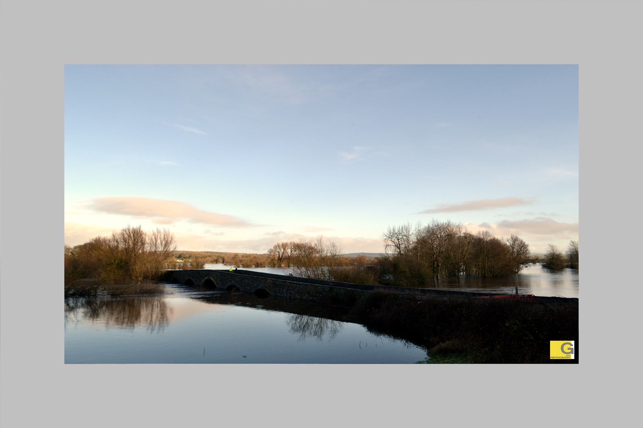 Photo in Landscape #flood #river #bridge #ireland #kilkenny