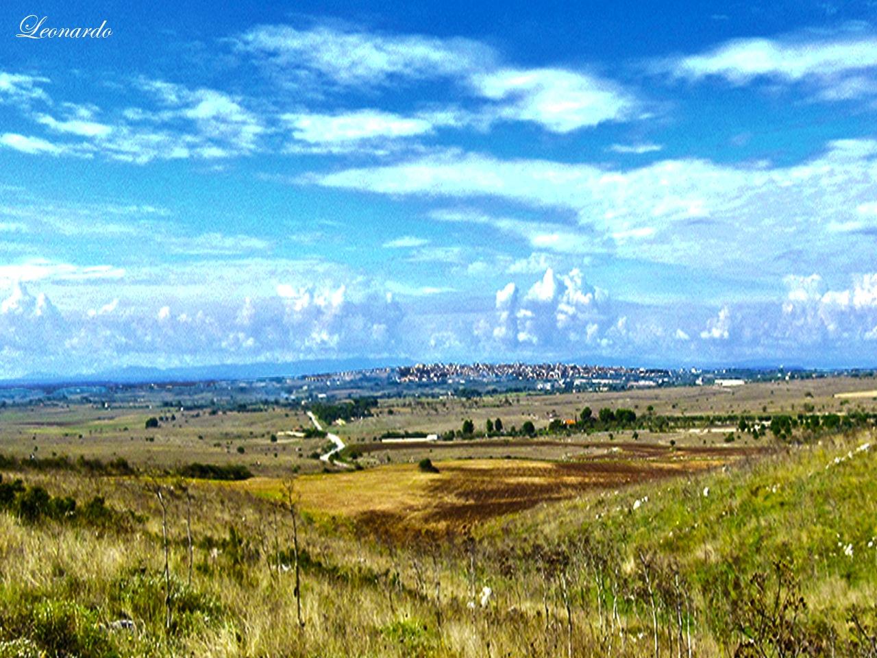 Altamura view from Murge by gravinall