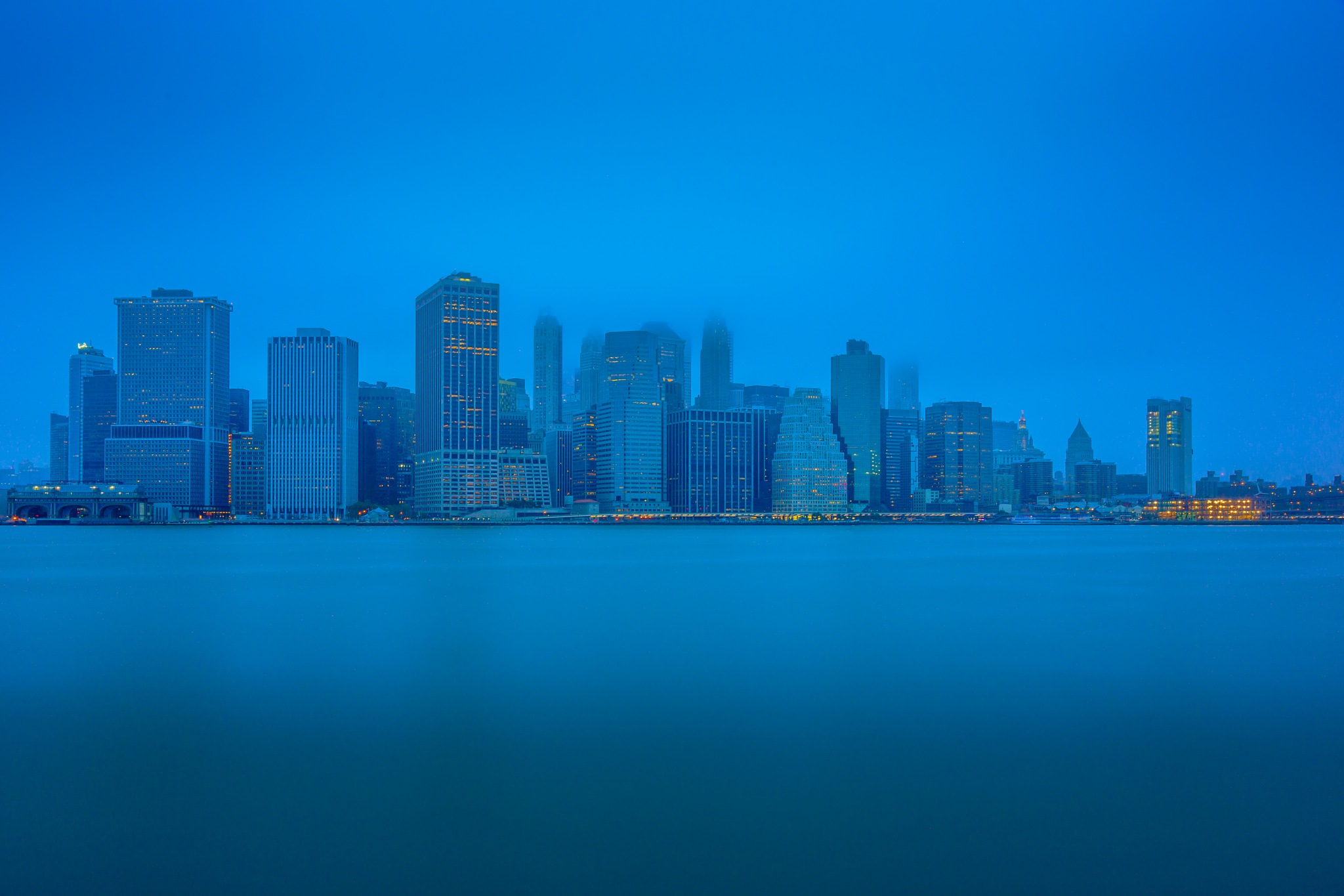 Fog Rolling Into New York City! by Hameed S