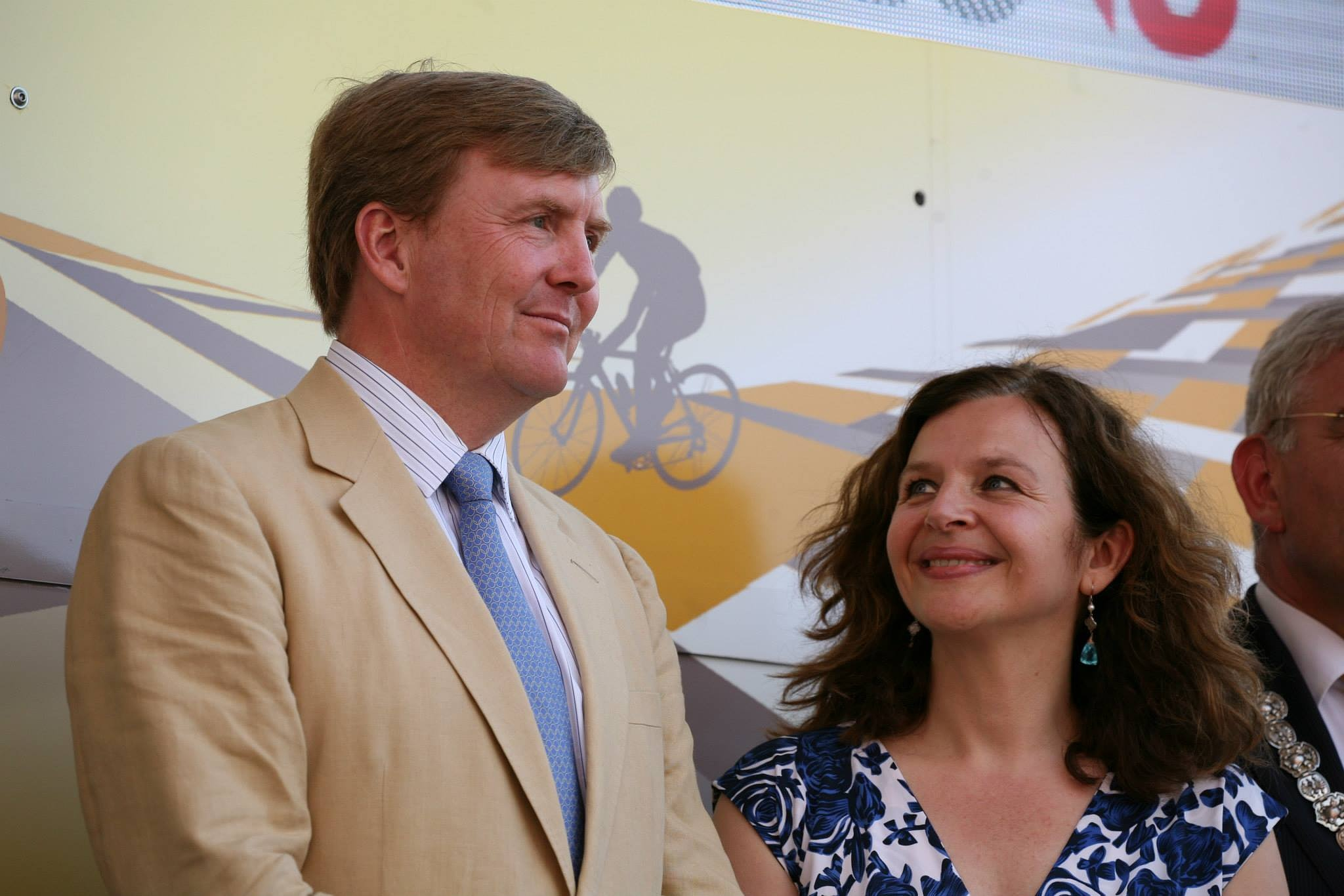 KING Willem Alexander of The Netherlands and Edith Schippers by Herman Stiekema