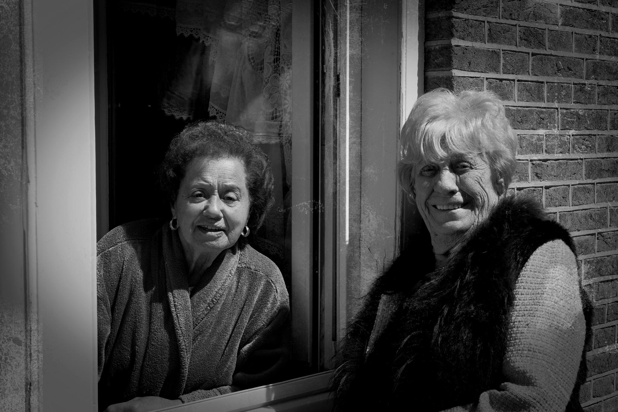 Two old ladies in Amsterdam by Joop Nijhof