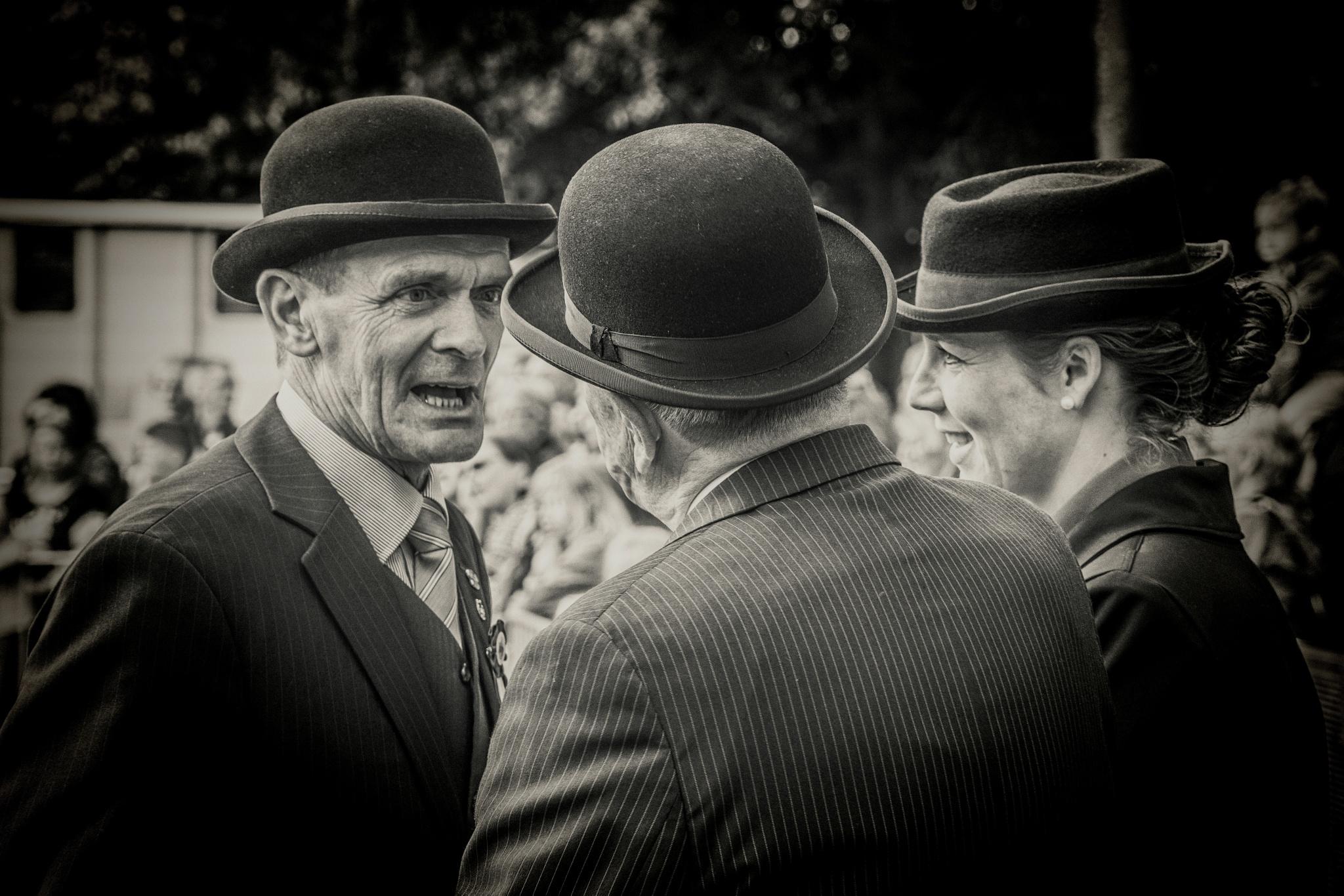 Old friends with hats by Joop Nijhof
