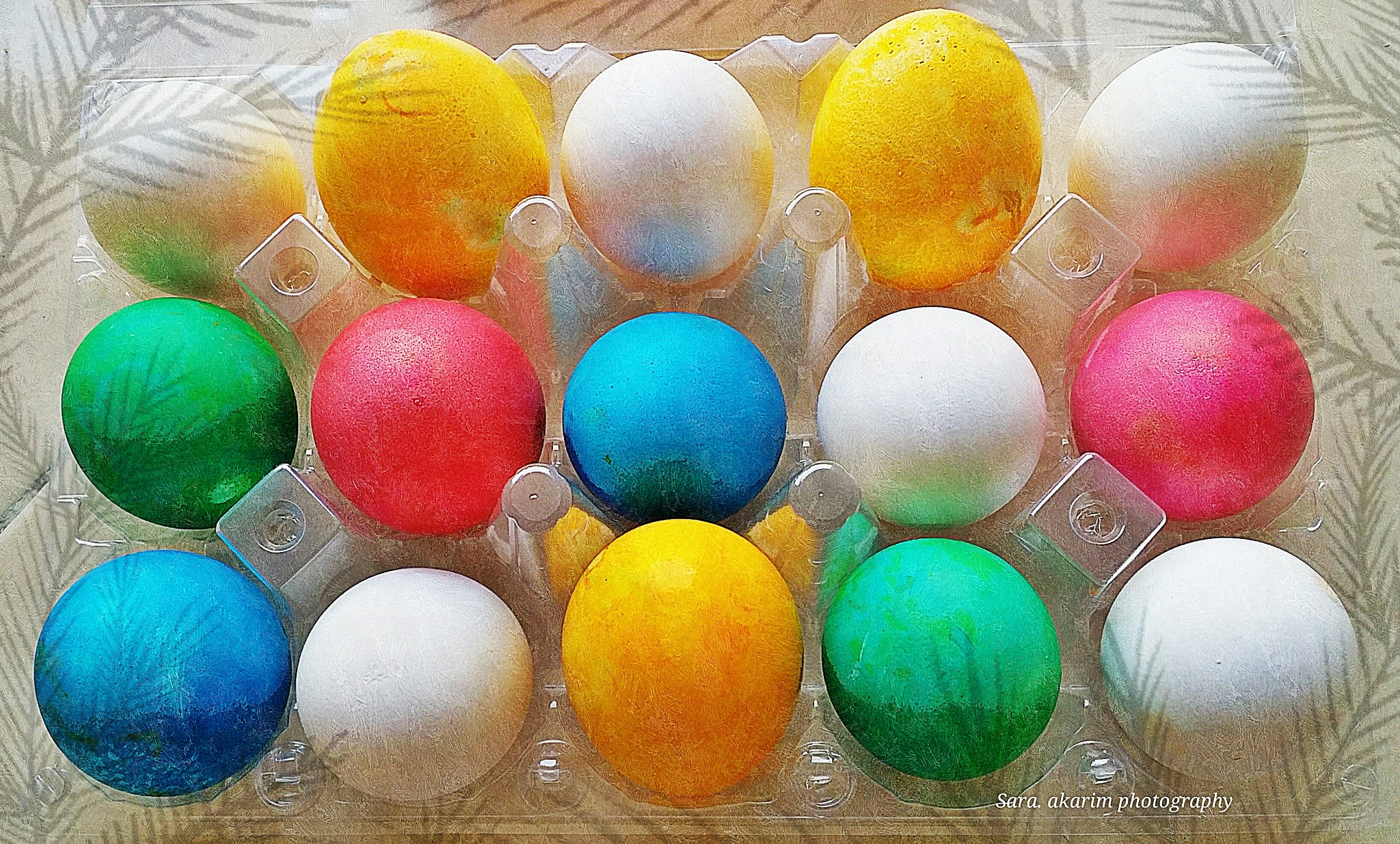 colored eggs  by Sara Abdelkarim