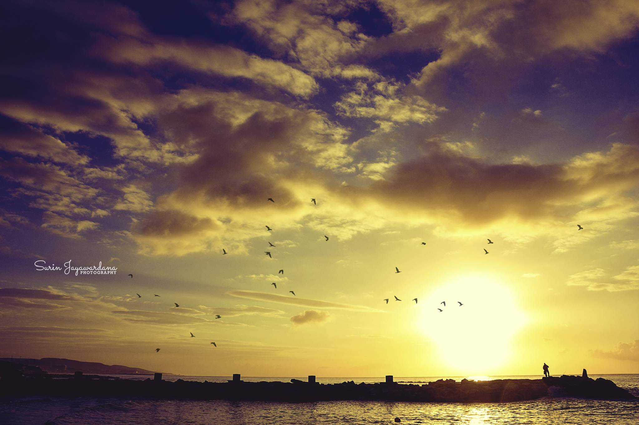 Sunrise in Limassol  by Surin Jayawardana