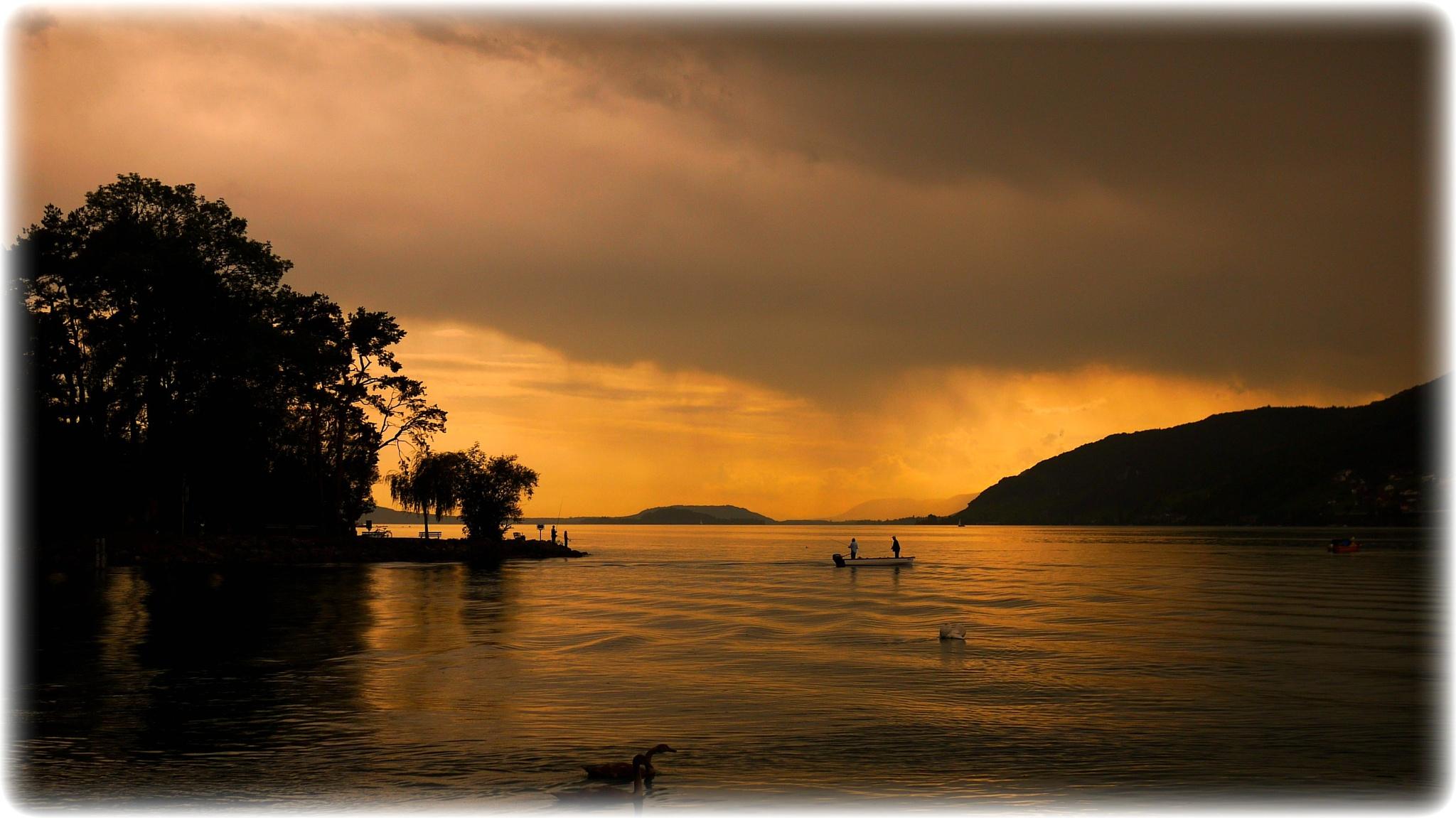 Photo in Landscape #lac de bienne. #bielersee. #lake of bienne. #seeland. #orage.