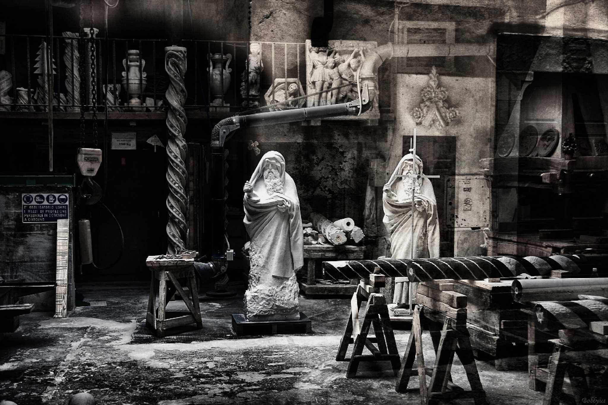 workshop of the sculptor by Bobbyus