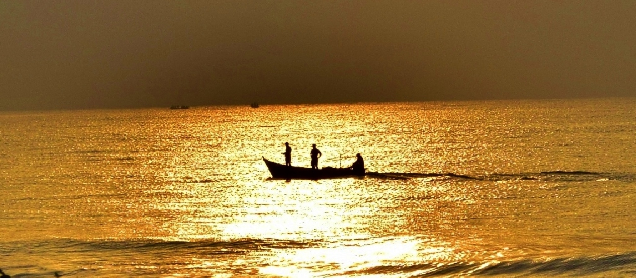 Golden Waters...New Dawn.... by Viraj