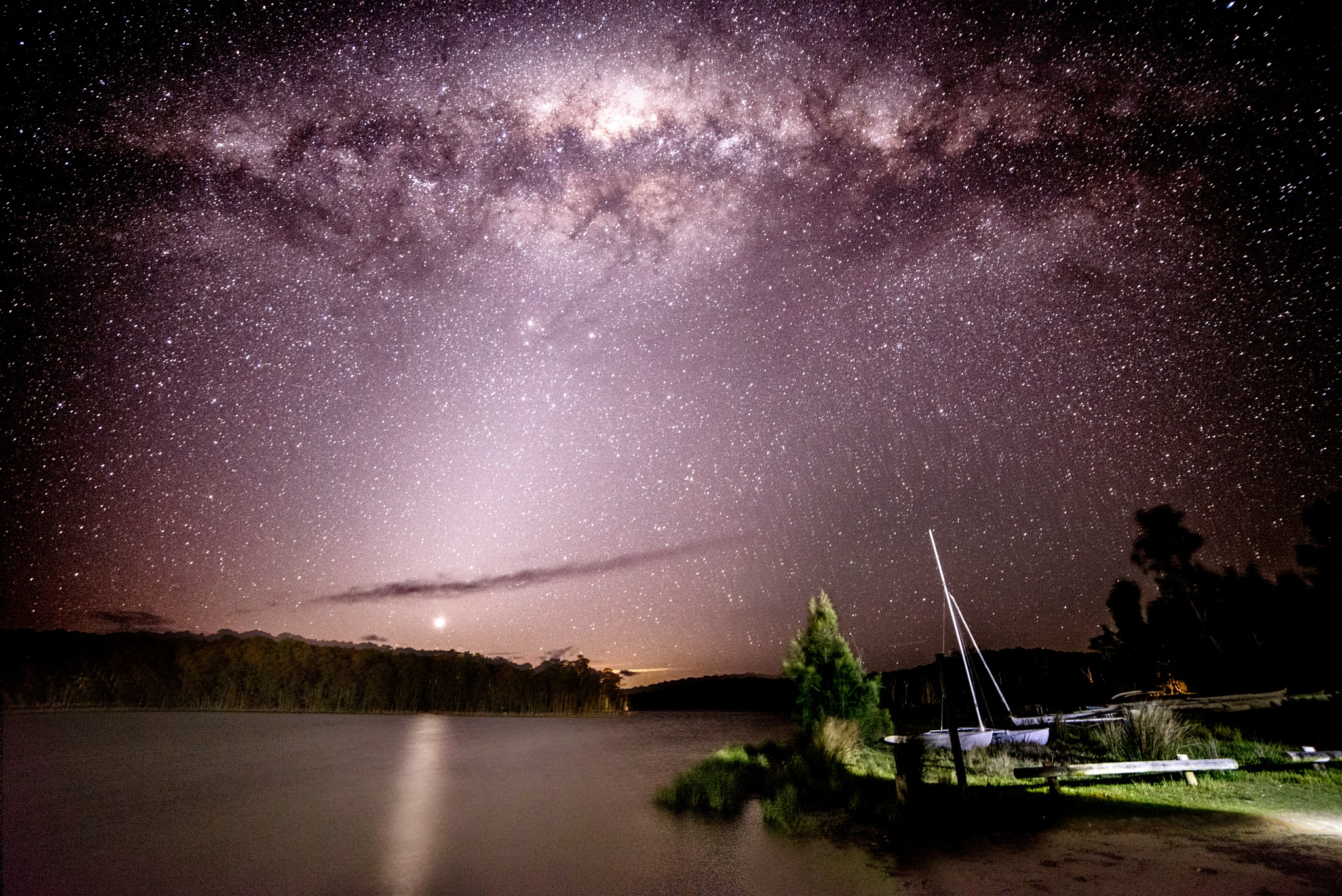 Venus Descending on Lake Burrill Australia No2 by Graham Levi